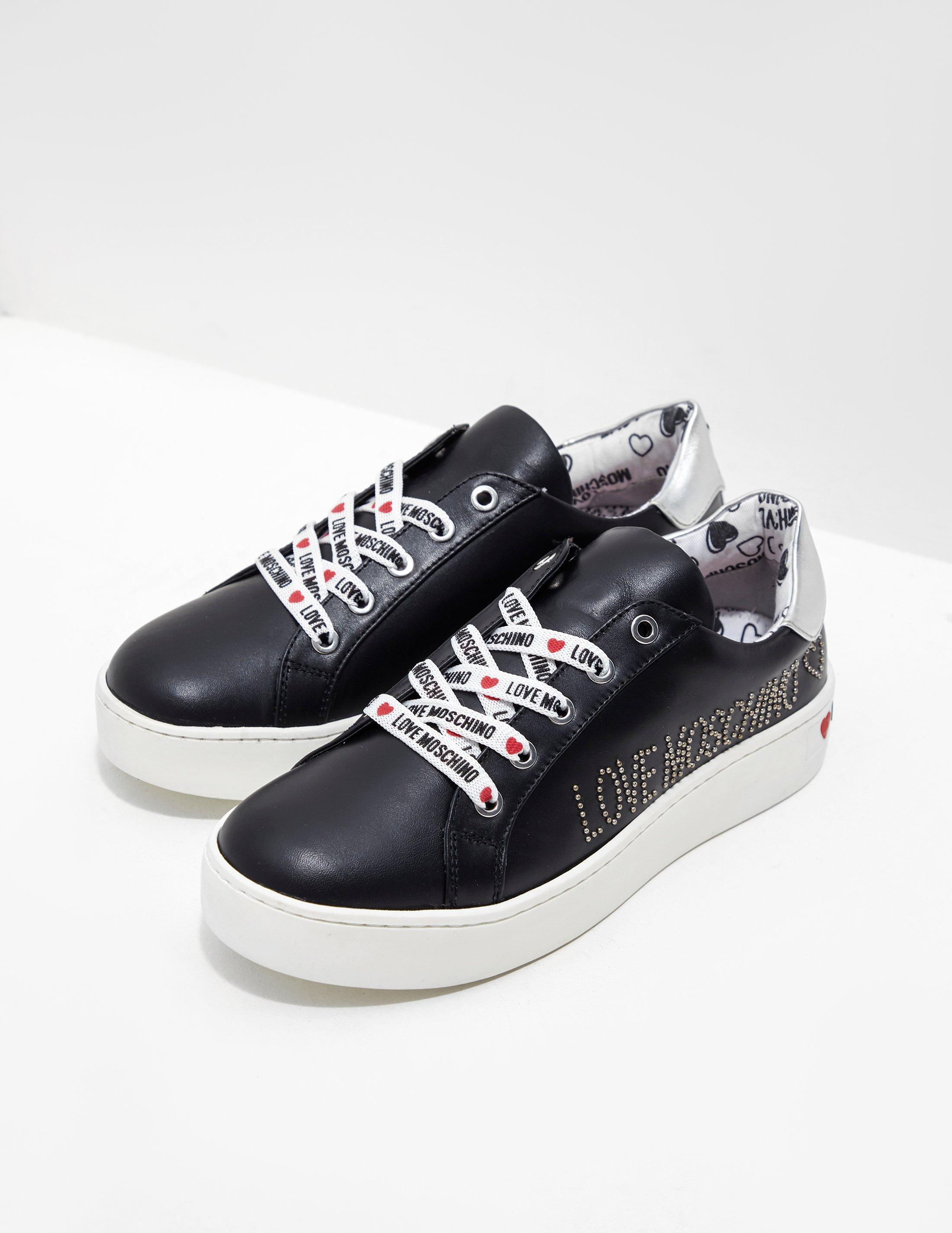 2cd1604008f Love Moschino - Black Scarpad.cassetta35 Gymnastics Shoes - Lyst. View  fullscreen