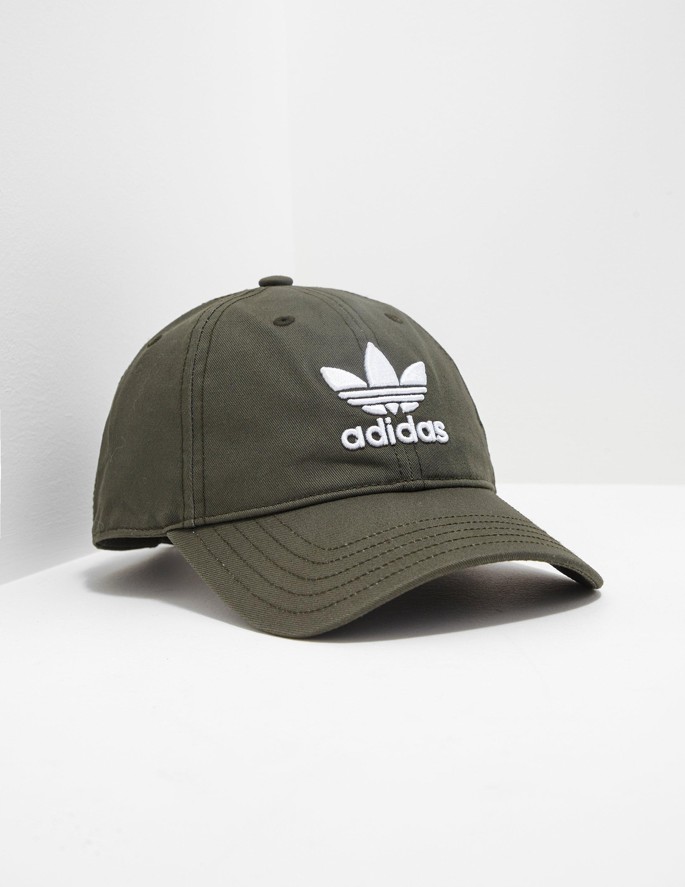d3db92ef8f9 adidas Originals Mens Trefoil Classic Cap Olive in Green for Men - Lyst