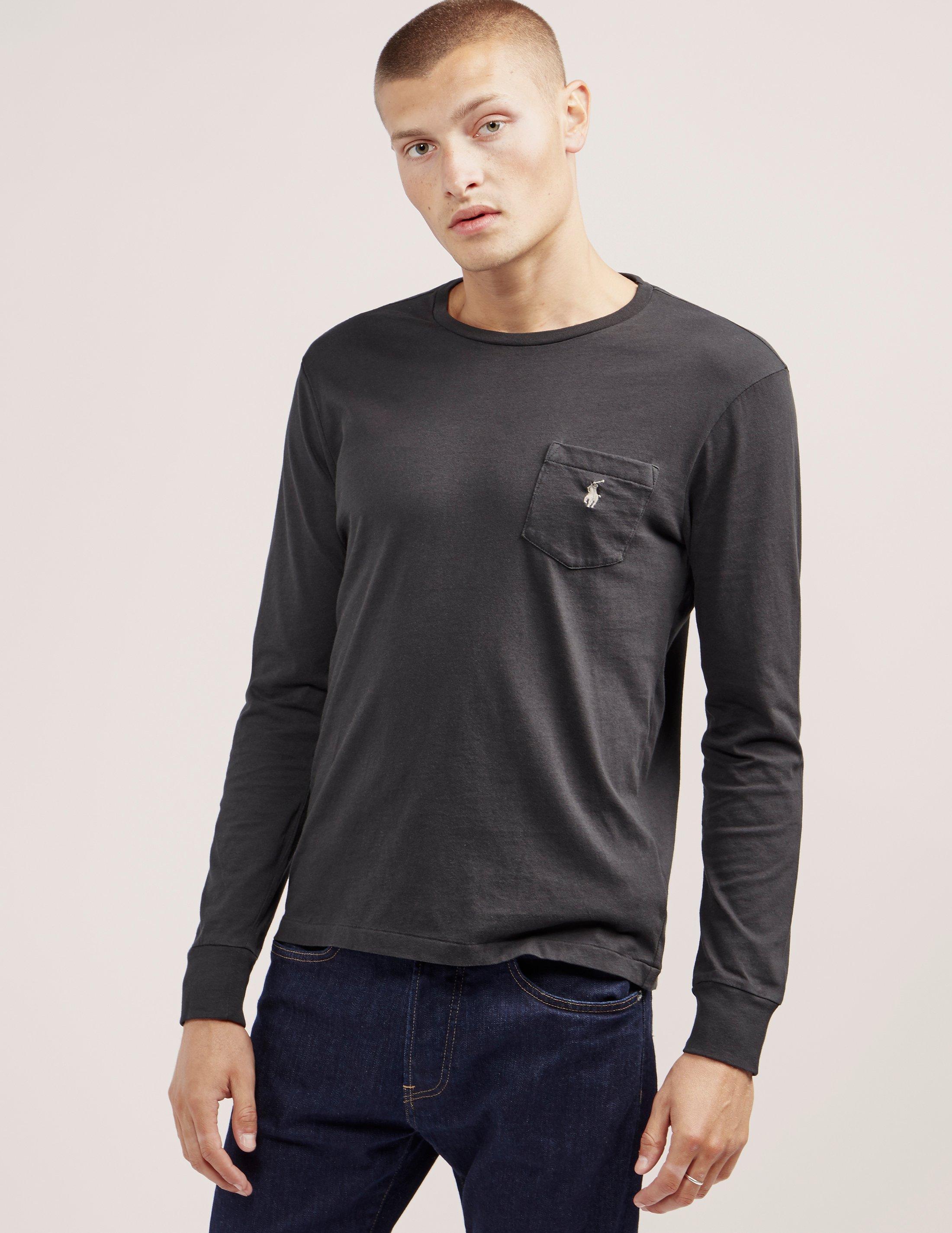 Lyst polo ralph lauren long sleeve pocket t shirt in for Long sleeve pocket shirts