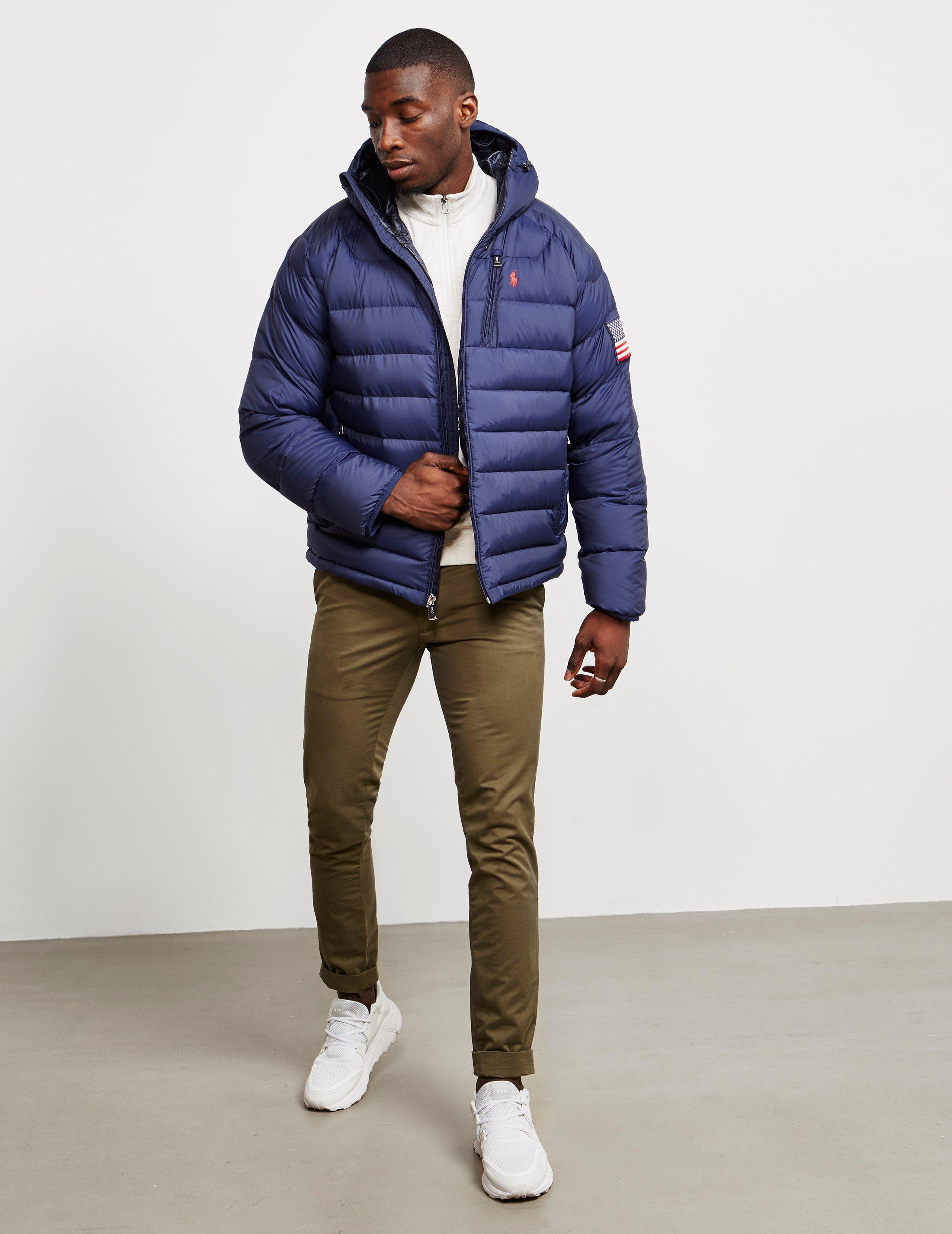 6f178b6acd67 Lyst - Polo Ralph Lauren Glacier Heated Down Jacket Navy Blue in Blue for  Men