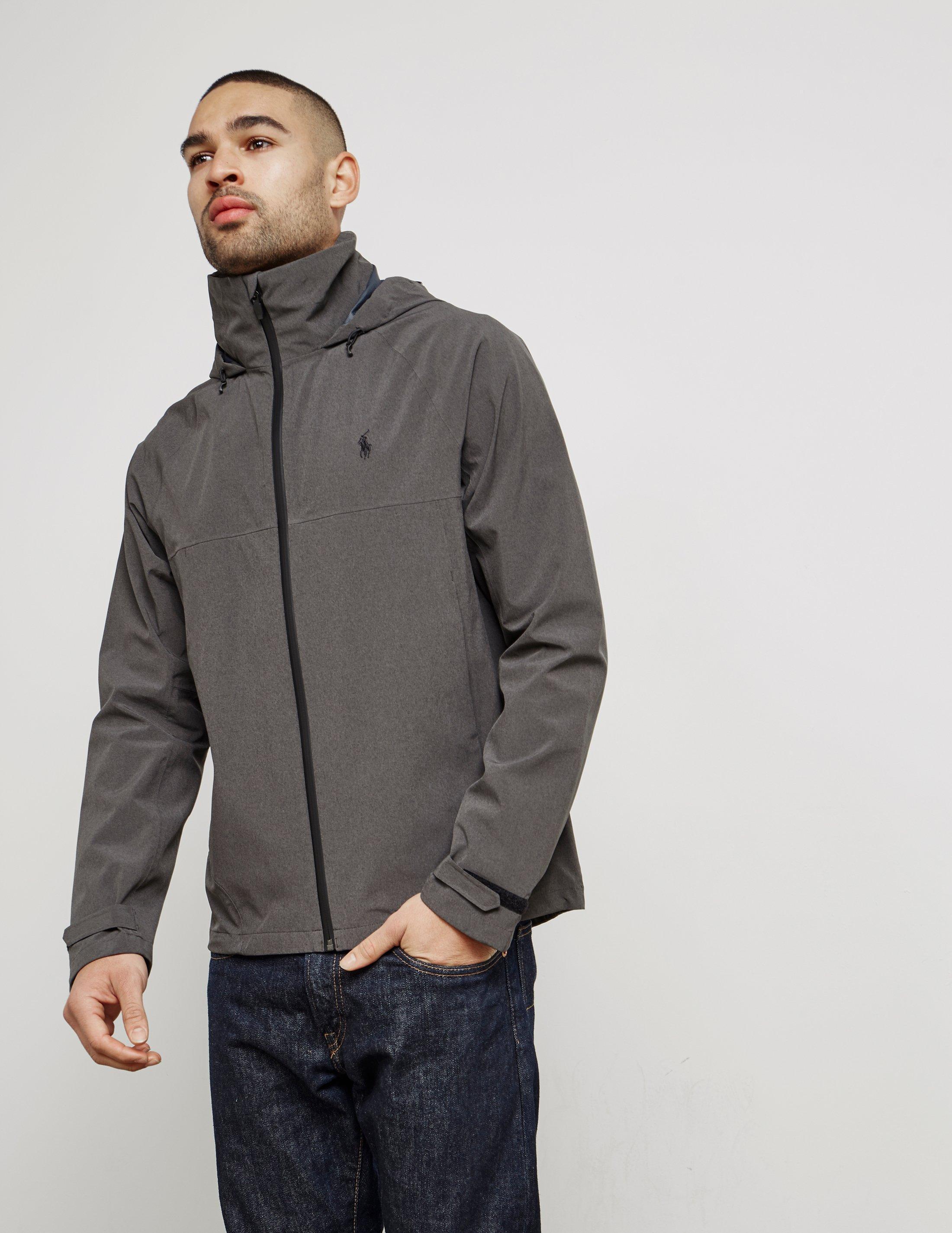 Polo Ralph Lauren. Gray Mens Tech Lightweight Windbreaker Jacket Grey