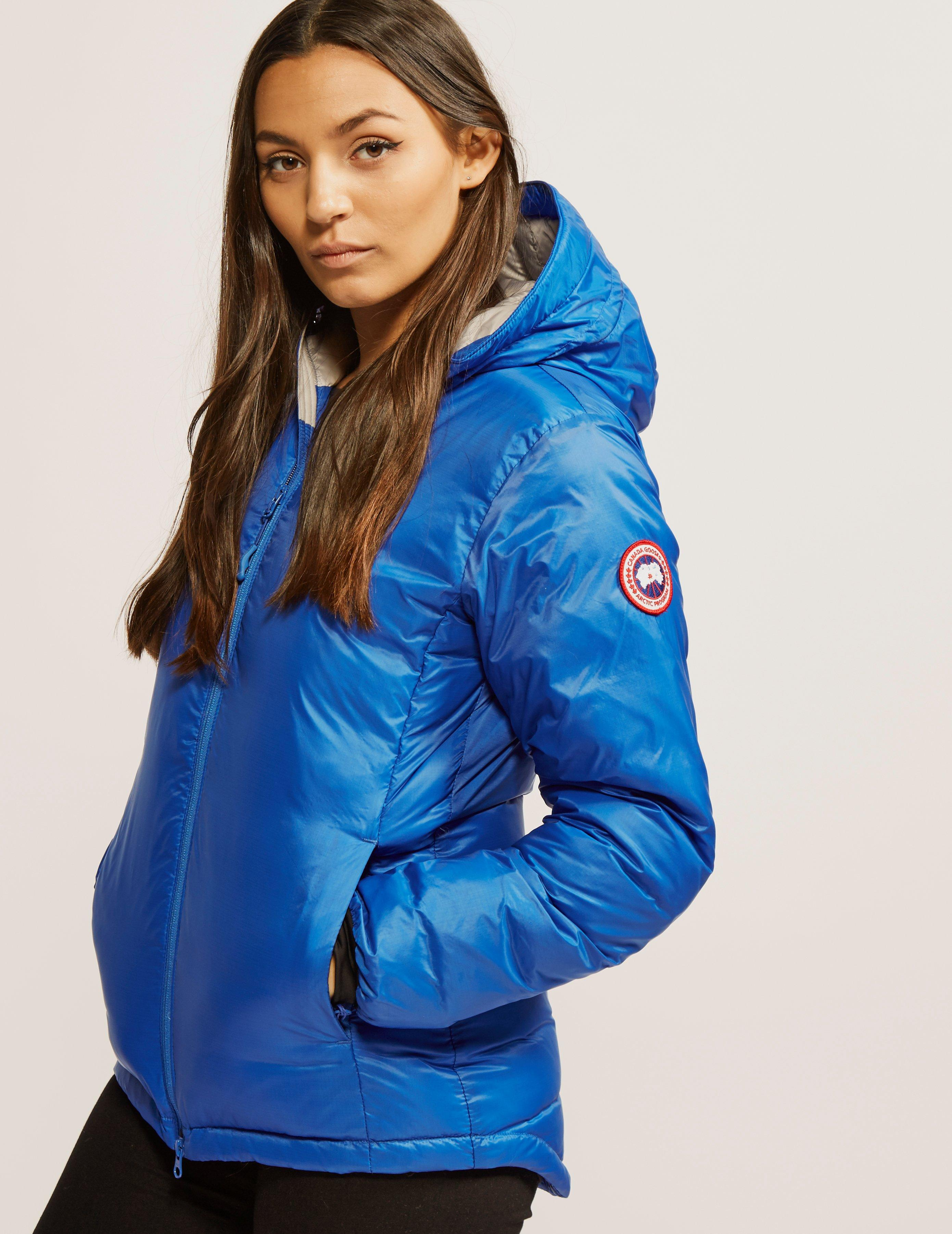 canada goose camp hooded jacket blue womens