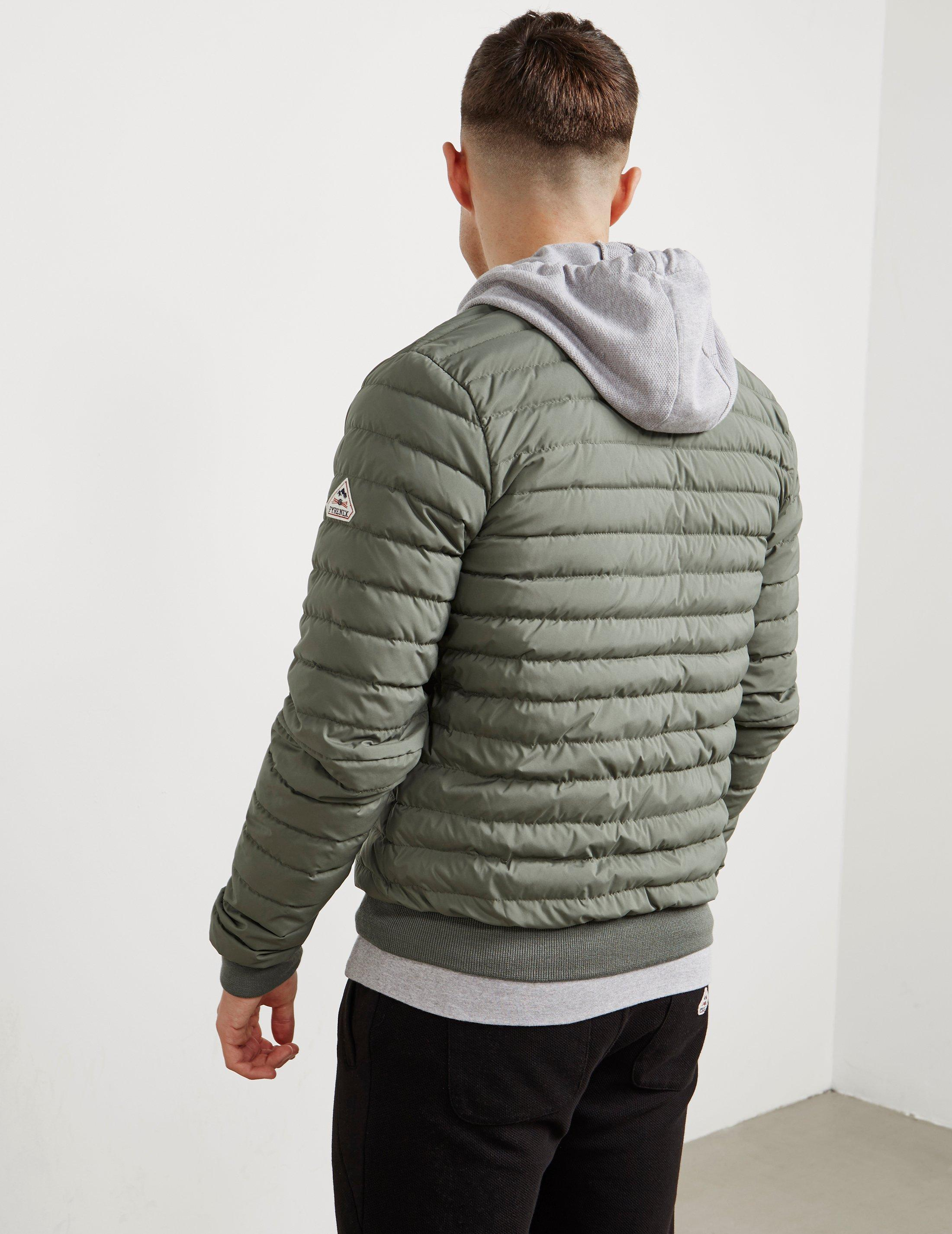 Pyrenex Synthetic Mens Bruno Down Padded Bomber Jacket Olive/olive in Green for Men