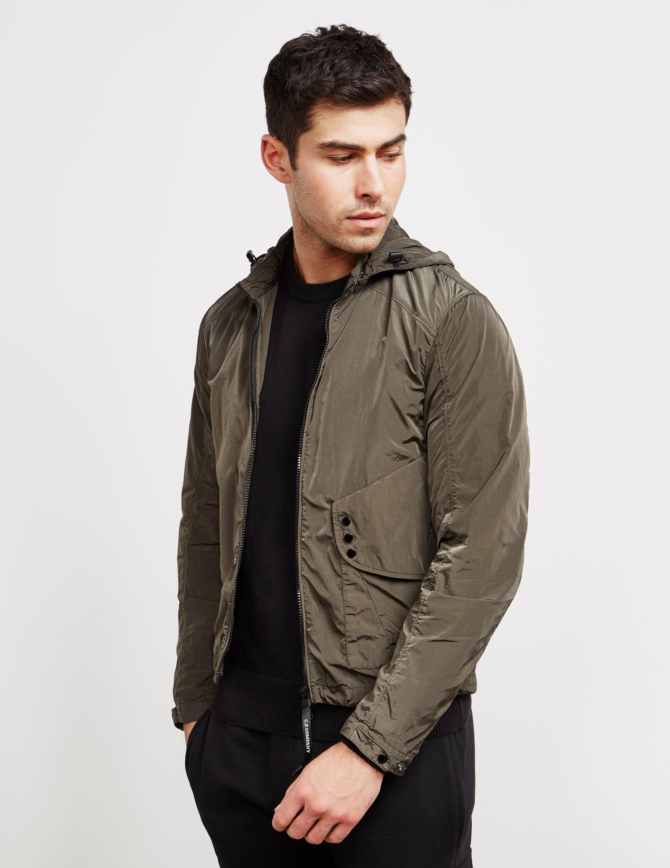 926cd397dc30 Lyst - C P Company Mens Chrome Hooded Overshirt Green in Green for Men