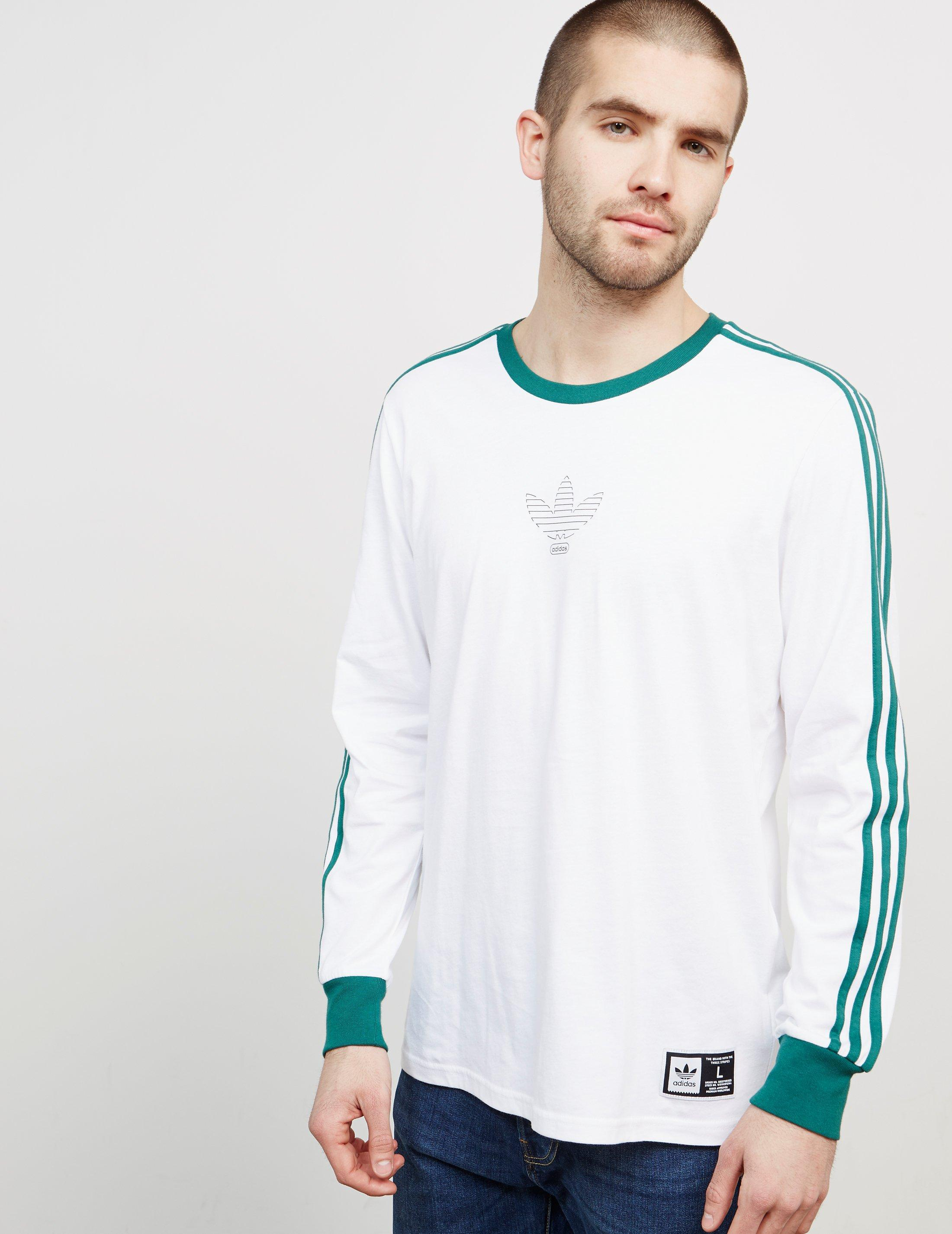 c59cd7660 adidas Originals Mens Club Long Sleeve T-shirt White/green in White ...