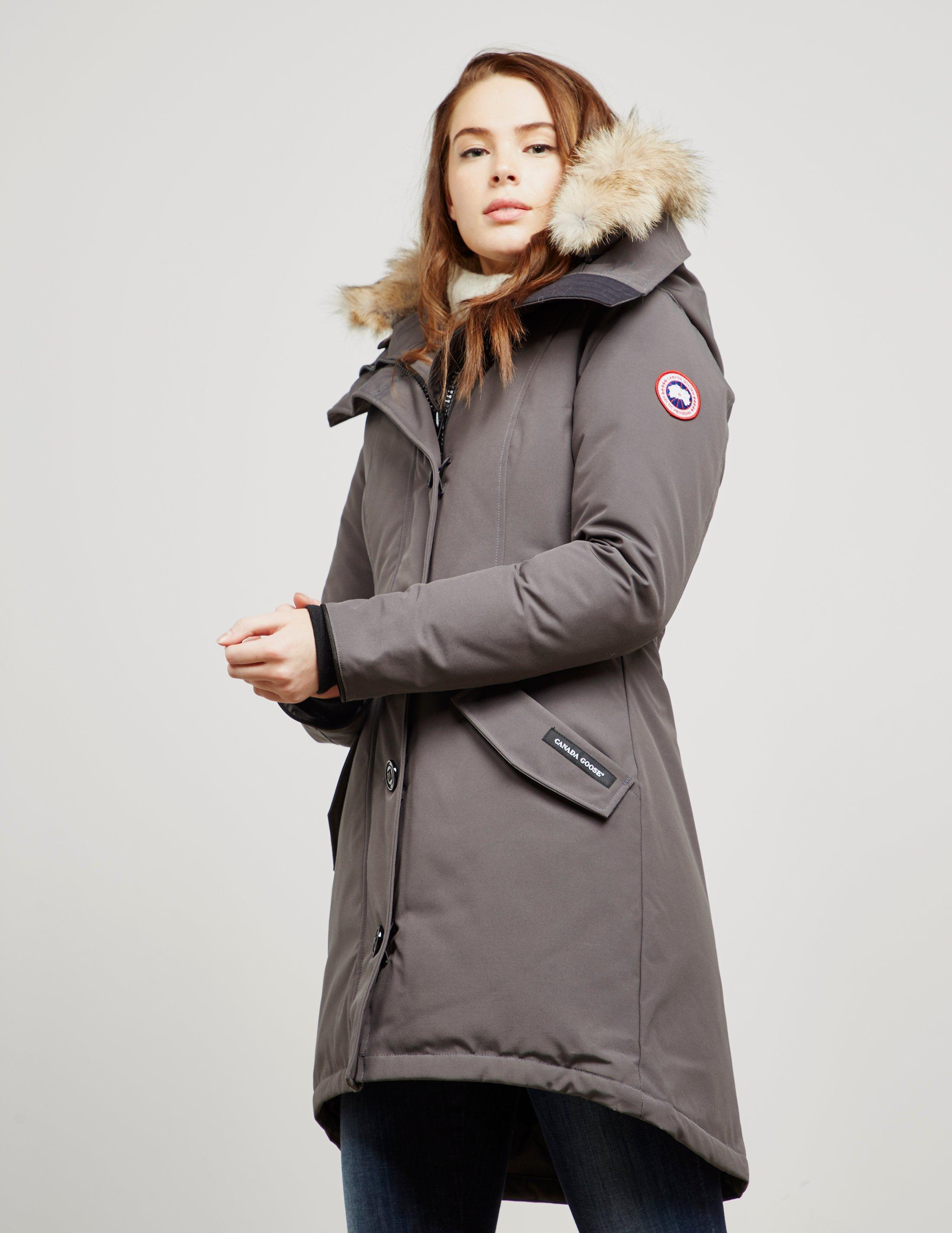 db48f1a2de71 closeout lyst canada goose womens rossclair padded parka jacket gre 84a41  c6c6c