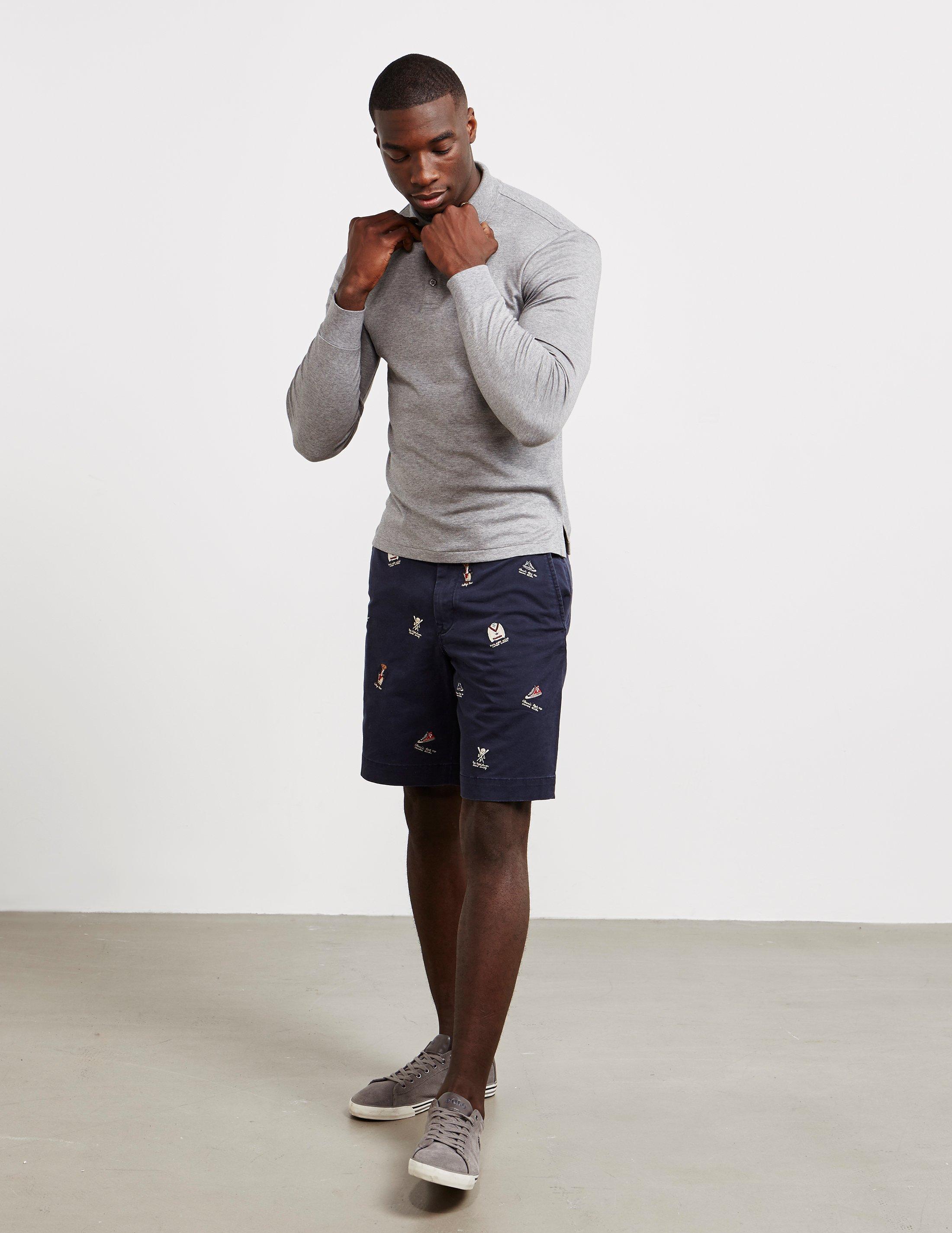 long t shirt and shorts