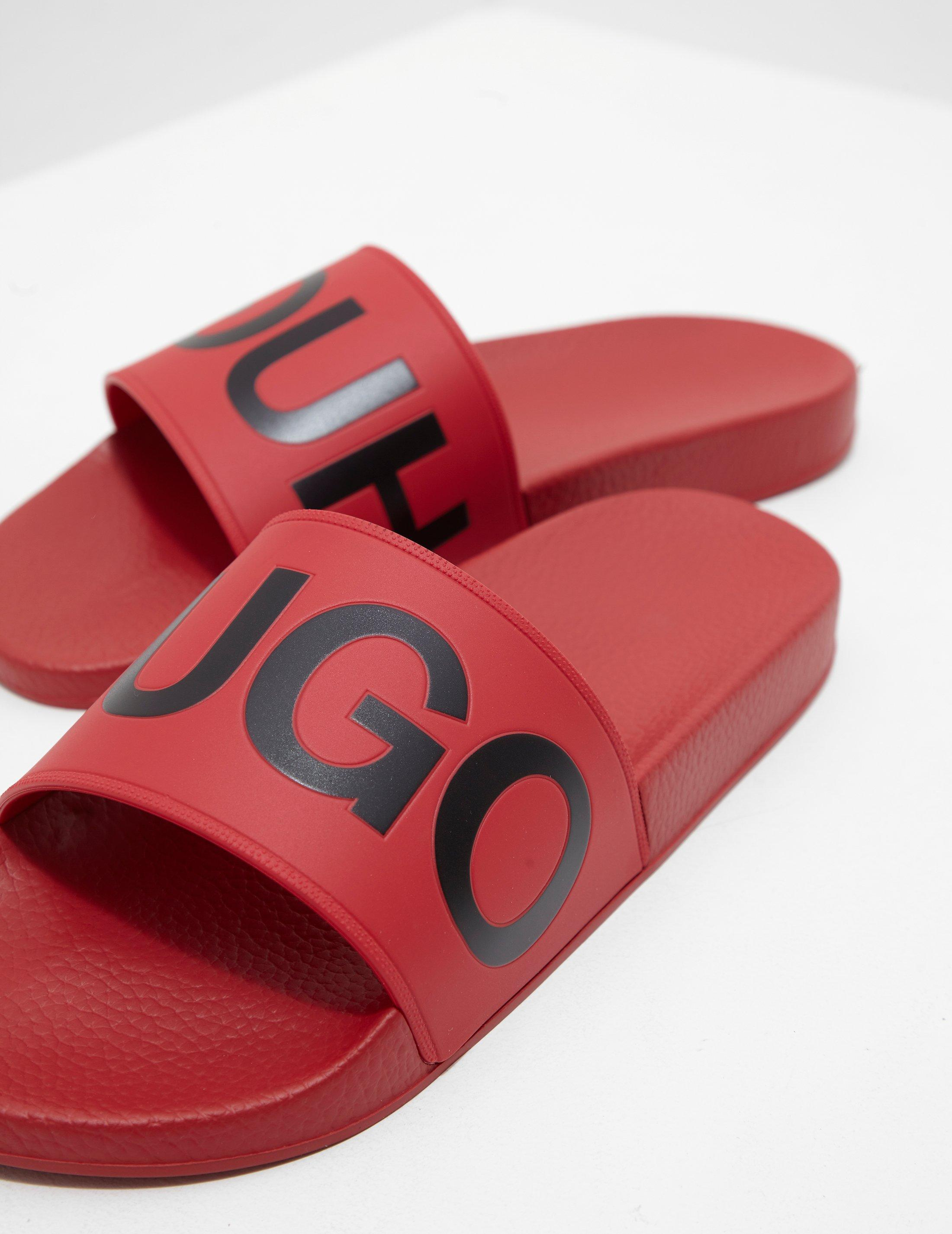 38cafe6fac50 Lyst - HUGO Timeout Slides Red in Red for Men - Save 72%