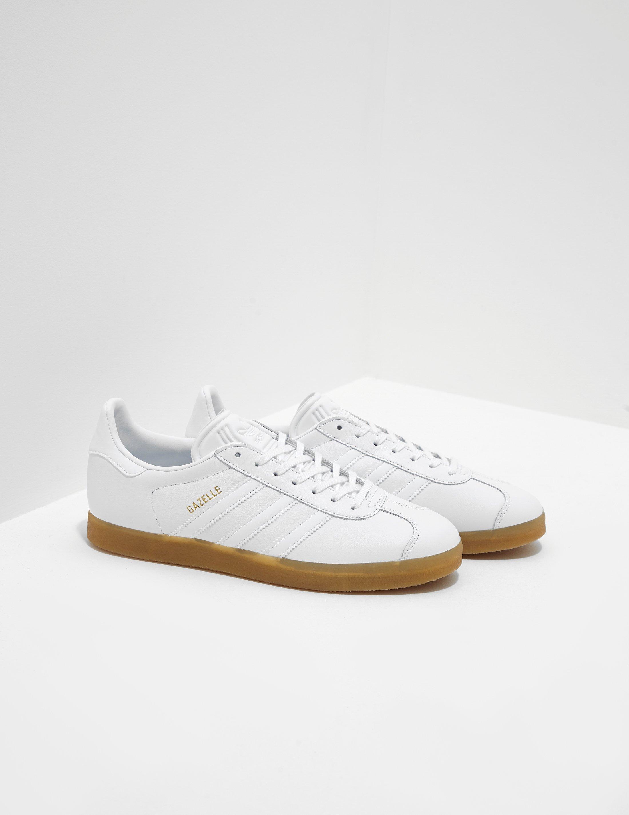 Lyst - adidas Originals Mens Gazelle White in White for Men df123477b