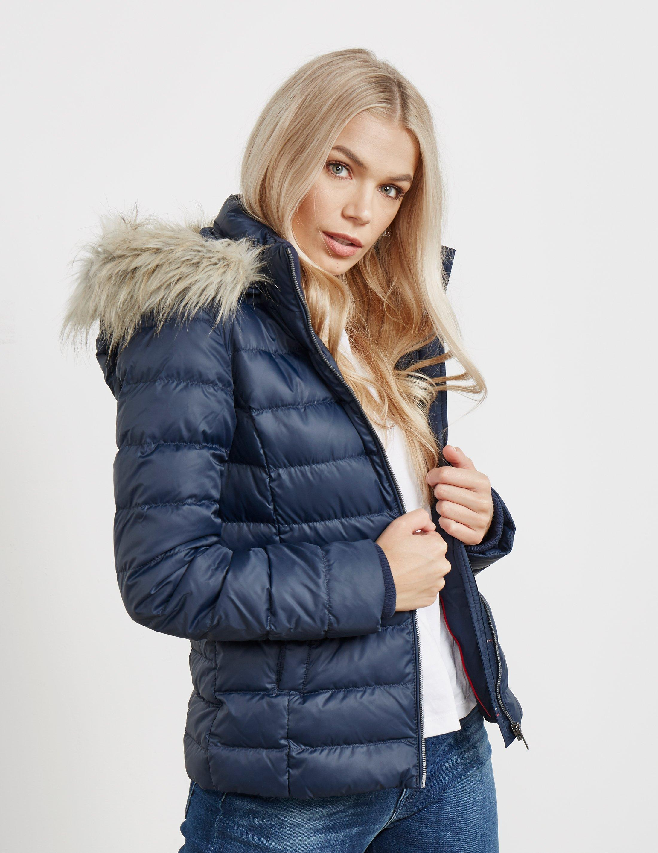 23668aef Tommy Hilfiger Essential Down Jacket Navy Blue in Blue - Save 1% - Lyst