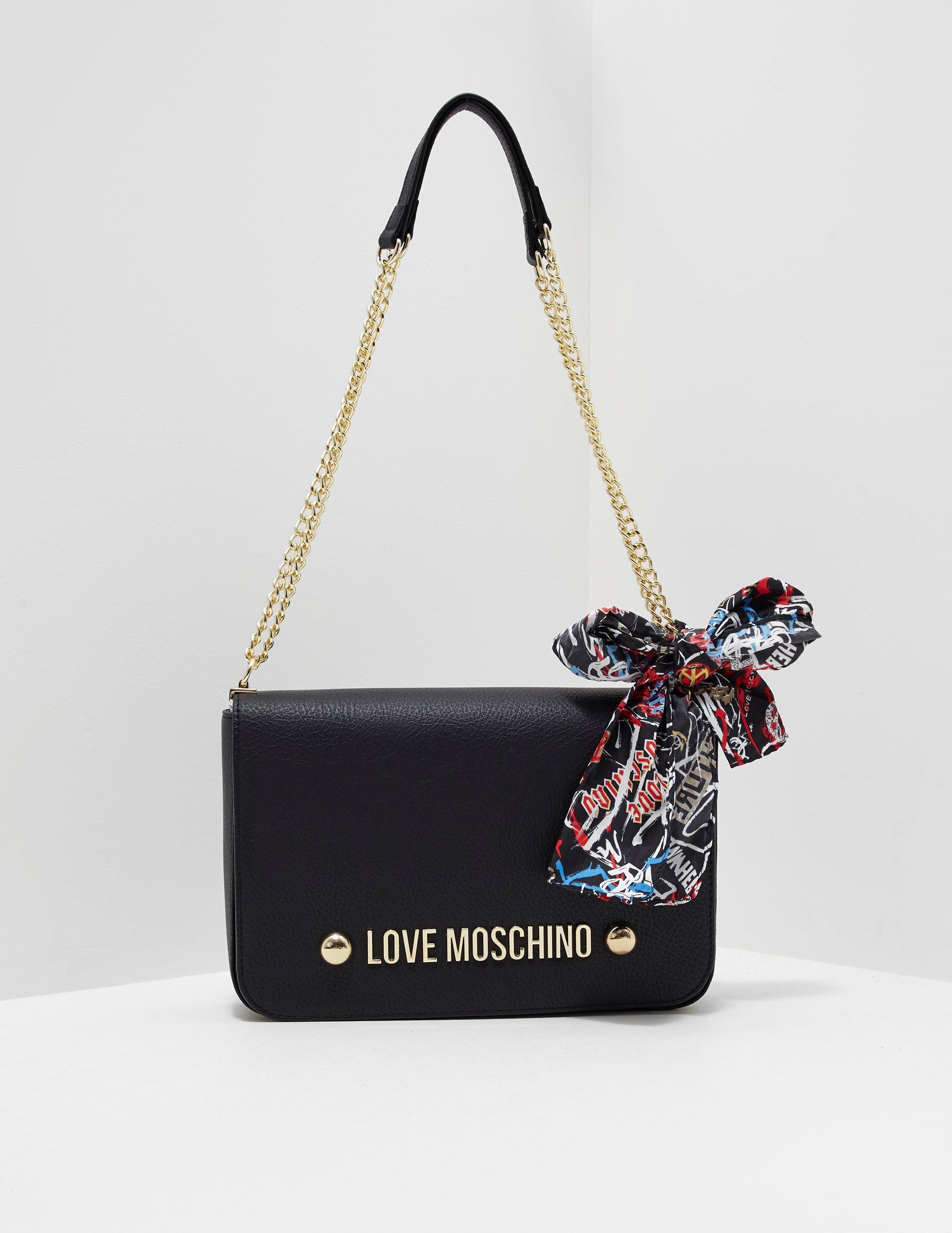 Love Moschino Womens Scarf Shoulder Bag Black in Black - Lyst 98f1c172bde