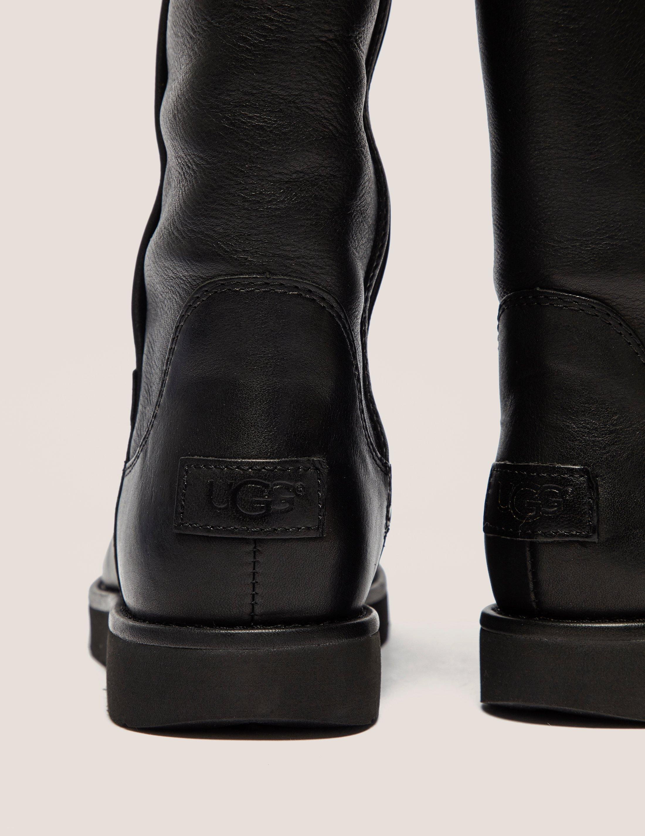 UGG Womens Abree Leather Boot Black