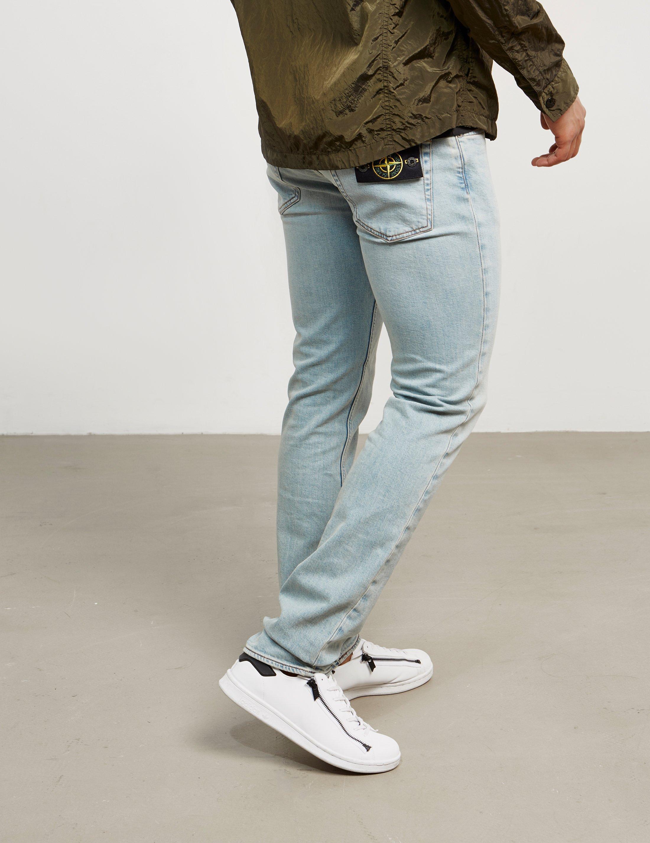 bf3dcfa199 Stone Island Mens Stretch Slim Jeans - Online Exclusive Bleach Blue/bleach  Blue for men