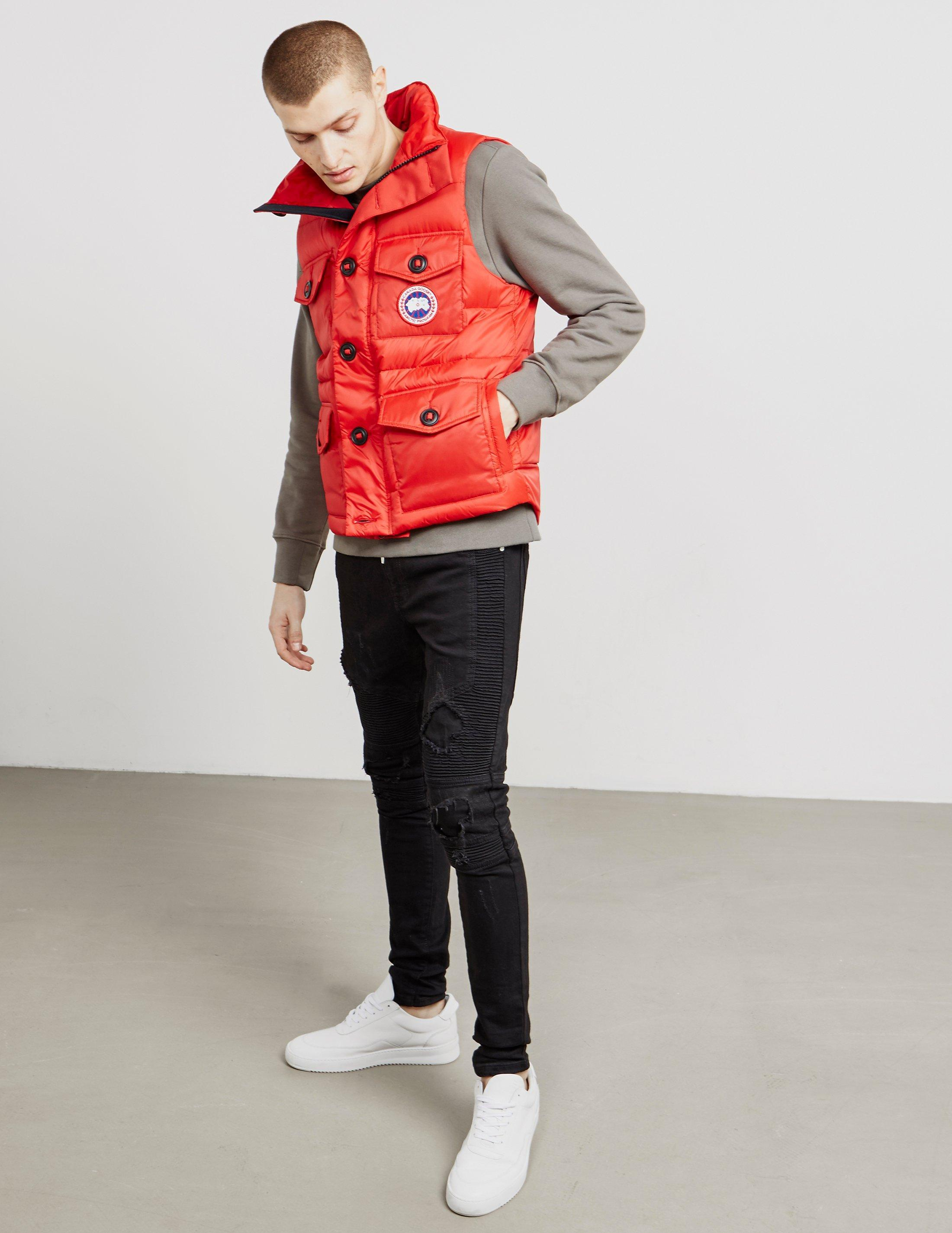 canada goose gilet red