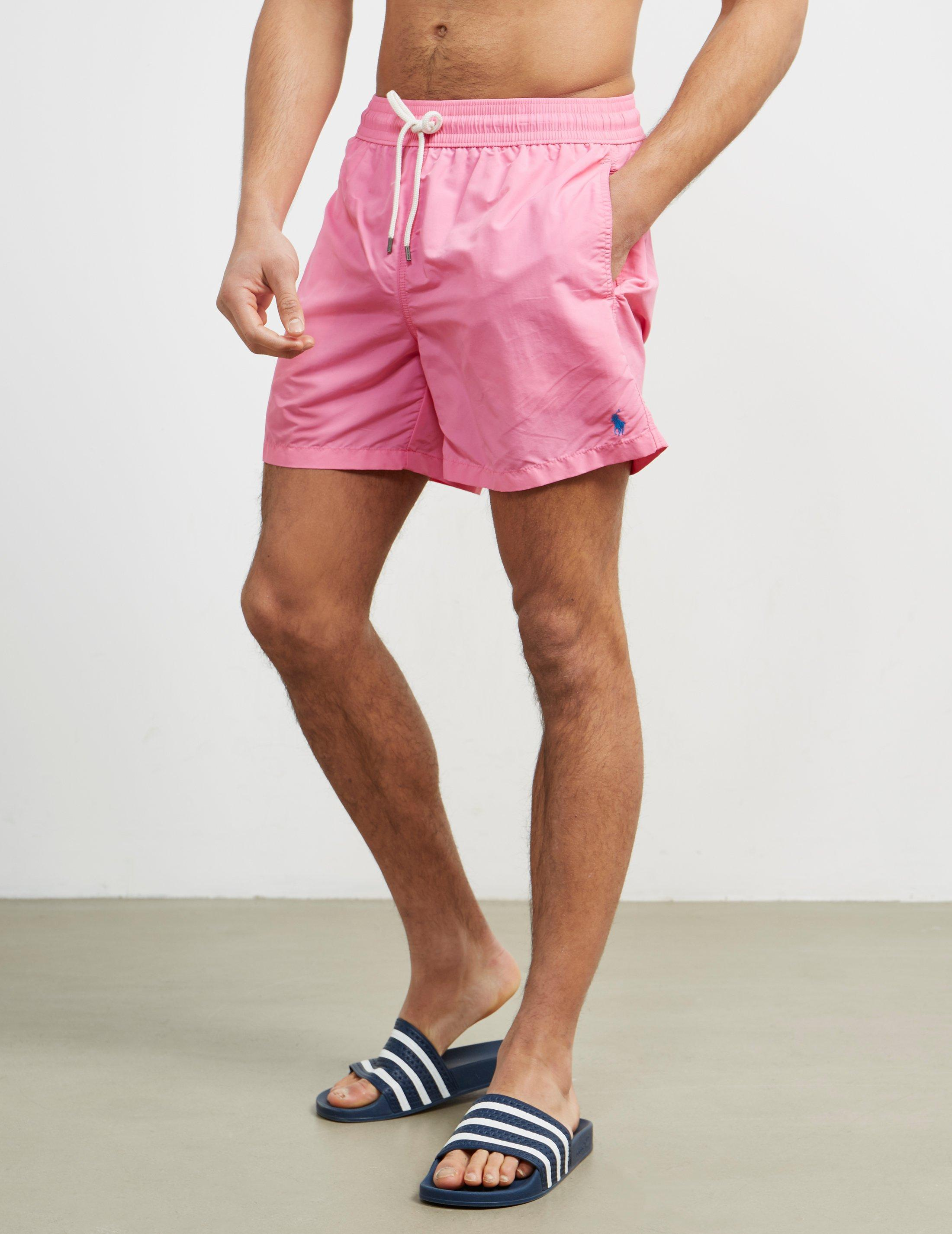 961a7c27d2 Polo Ralph Lauren Mens Basic Swim Shorts Pink in Pink for Men - Lyst