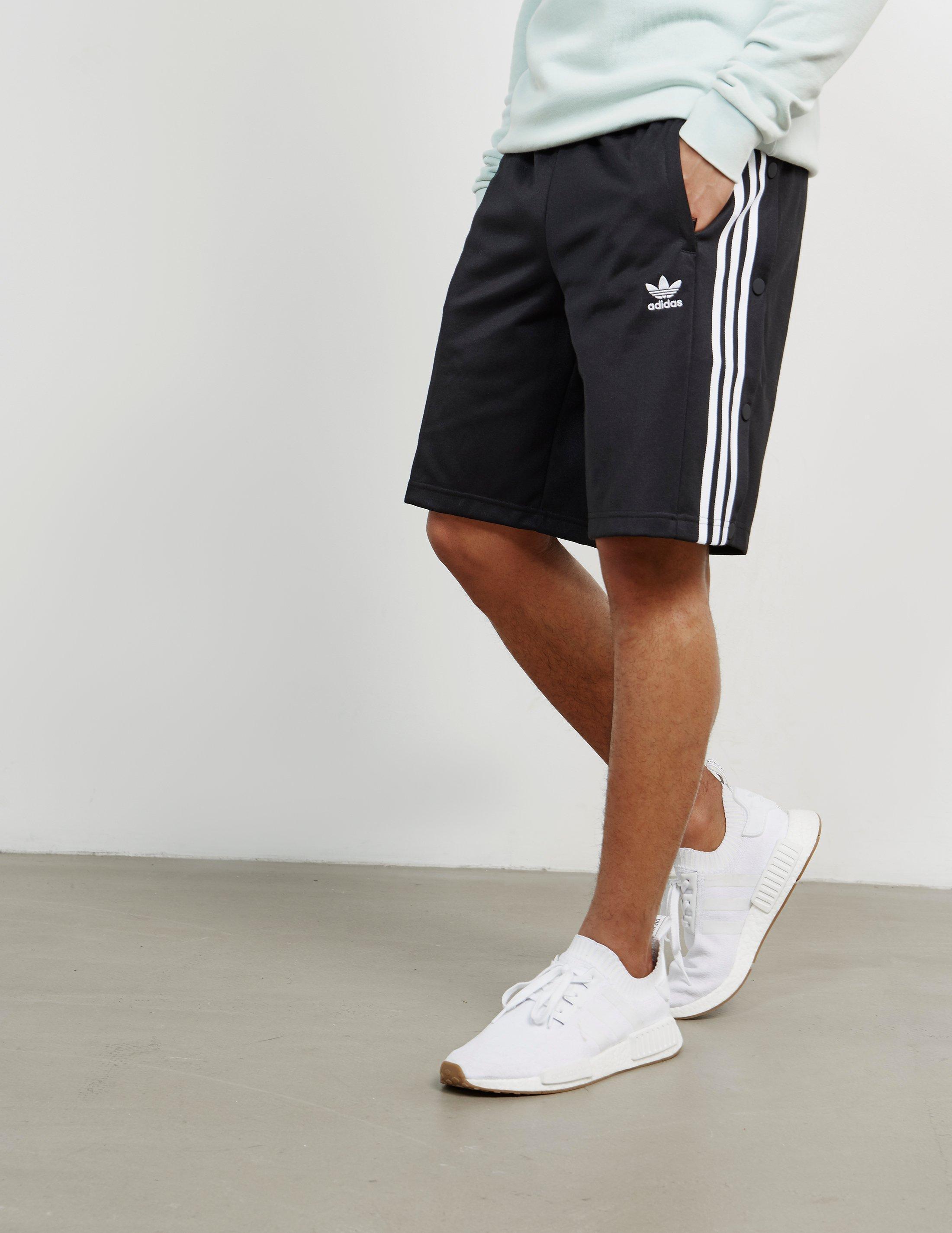 Adidas Originals Mens Snap Button Shorts Blackblack for men