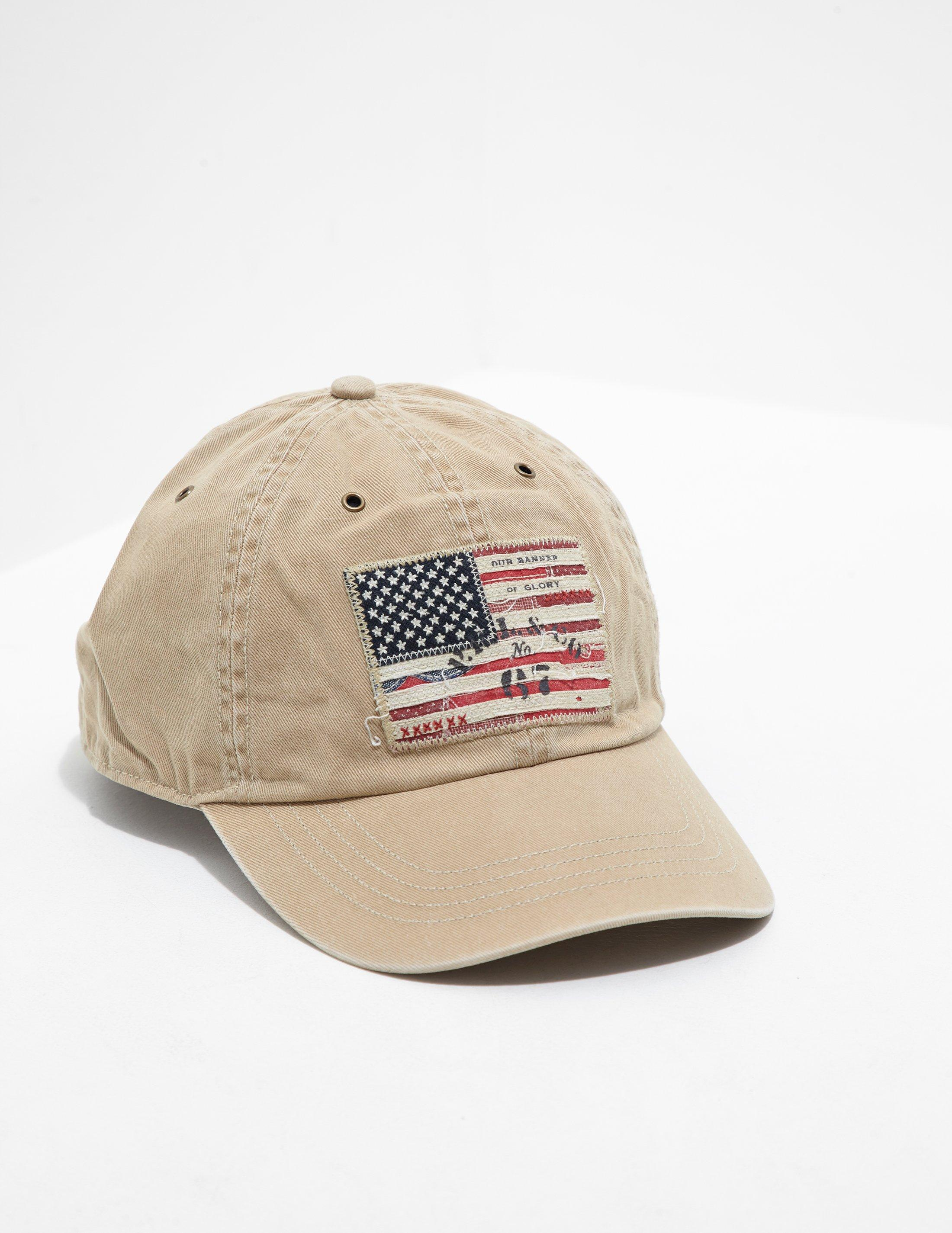 Polo Ralph Lauren Mens Iconic Flag Cap Tan in Brown for Men - Lyst 39316806480