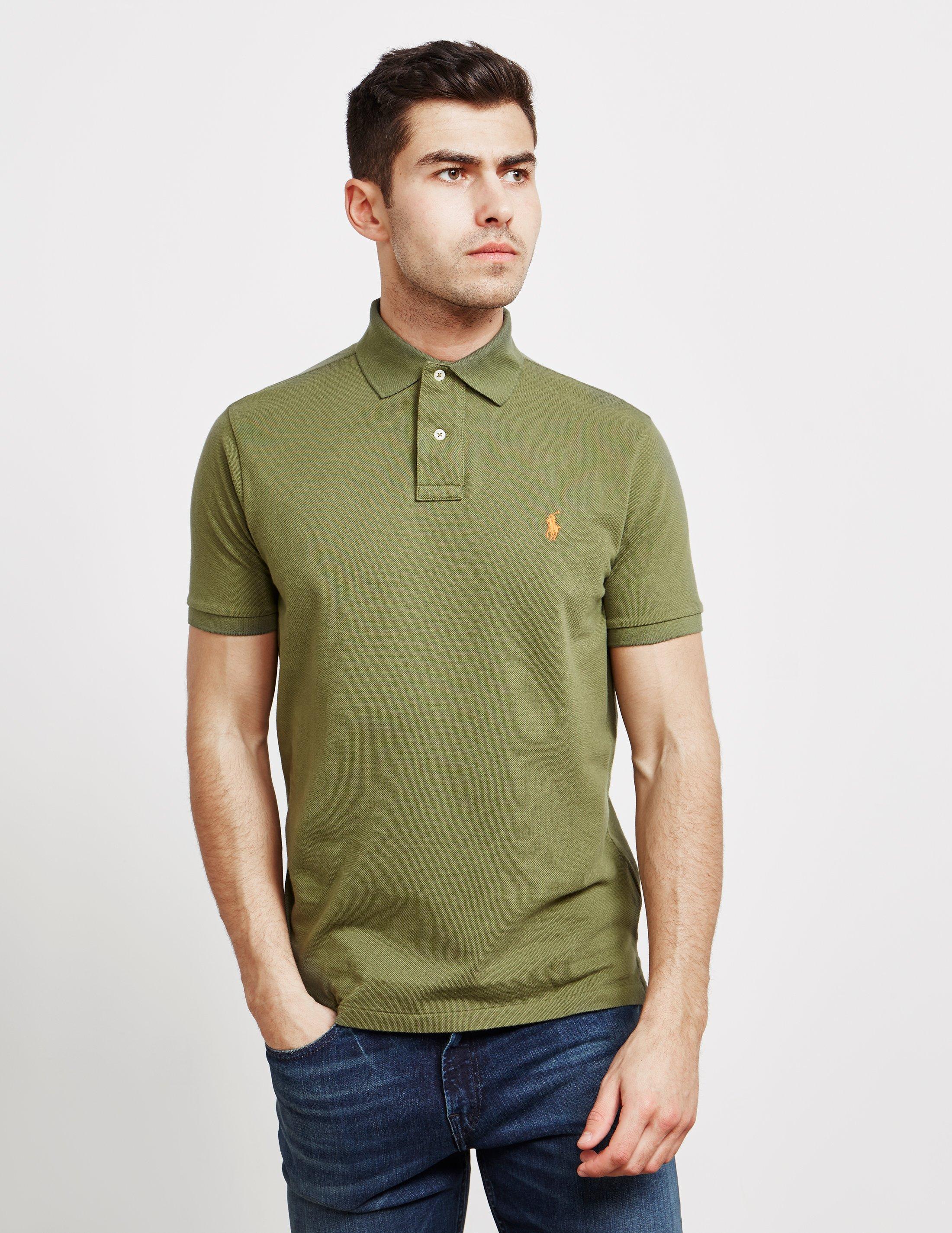 dfe62525d6328 Lyst - Polo Ralph Lauren Mens Mesh Short Sleeve Polo Shirt Green in ...