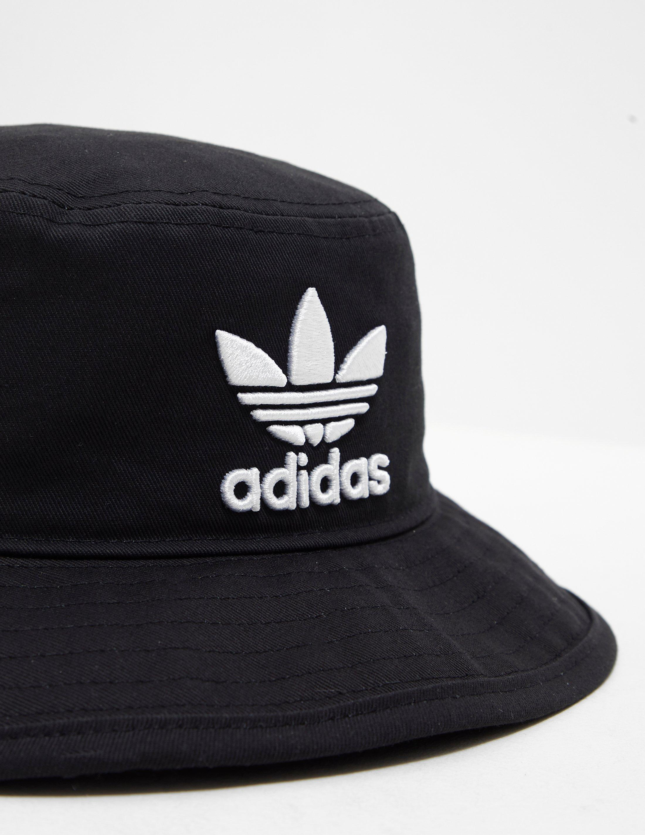 267ed9d16da Lyst - adidas Originals Mens Trefoil Bucket Hat Black black in Black ...