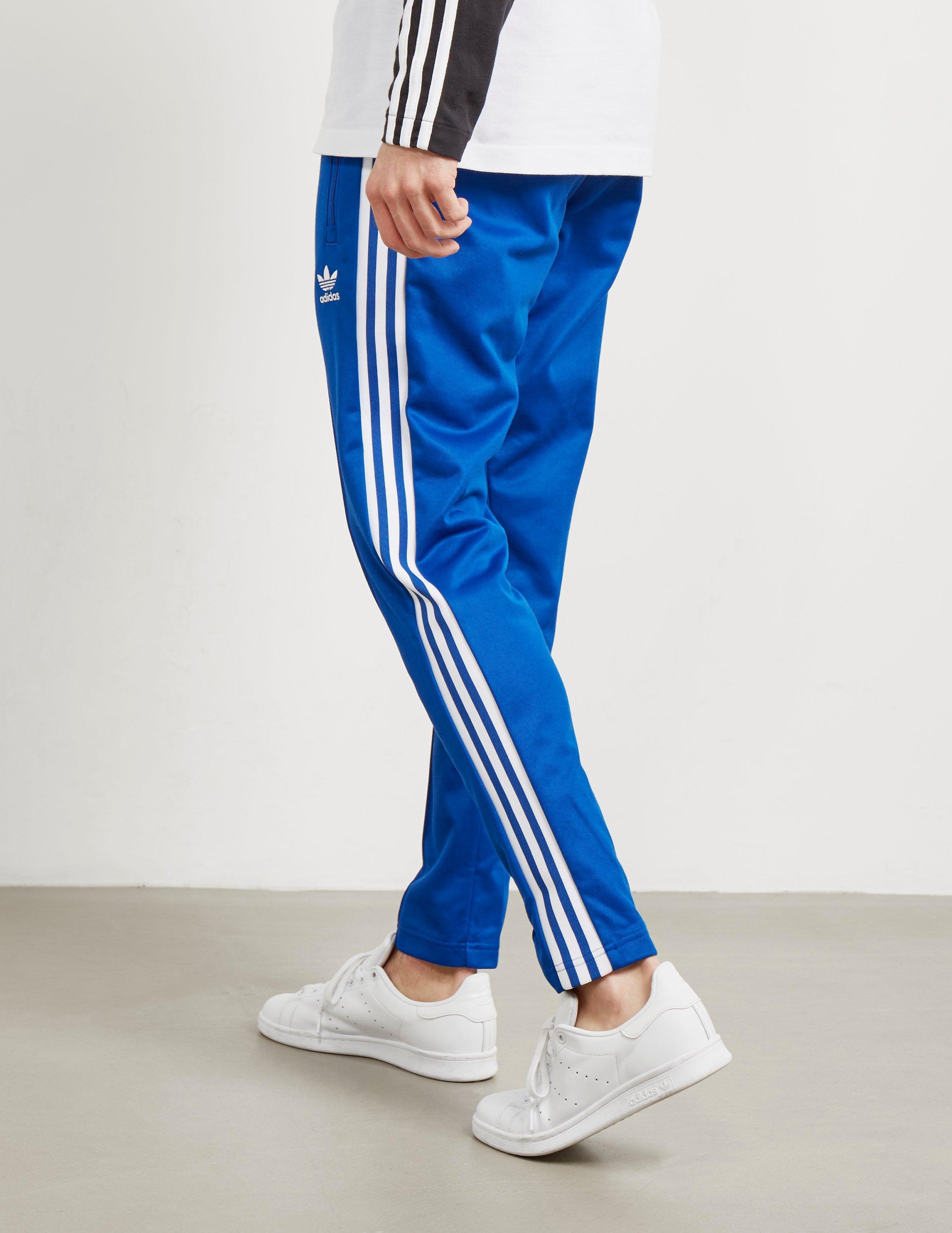 Ineficiente Tristemente electo  adidas Originals Cotton Mens Beckenbauer Cuffed Track Pants Royal ...