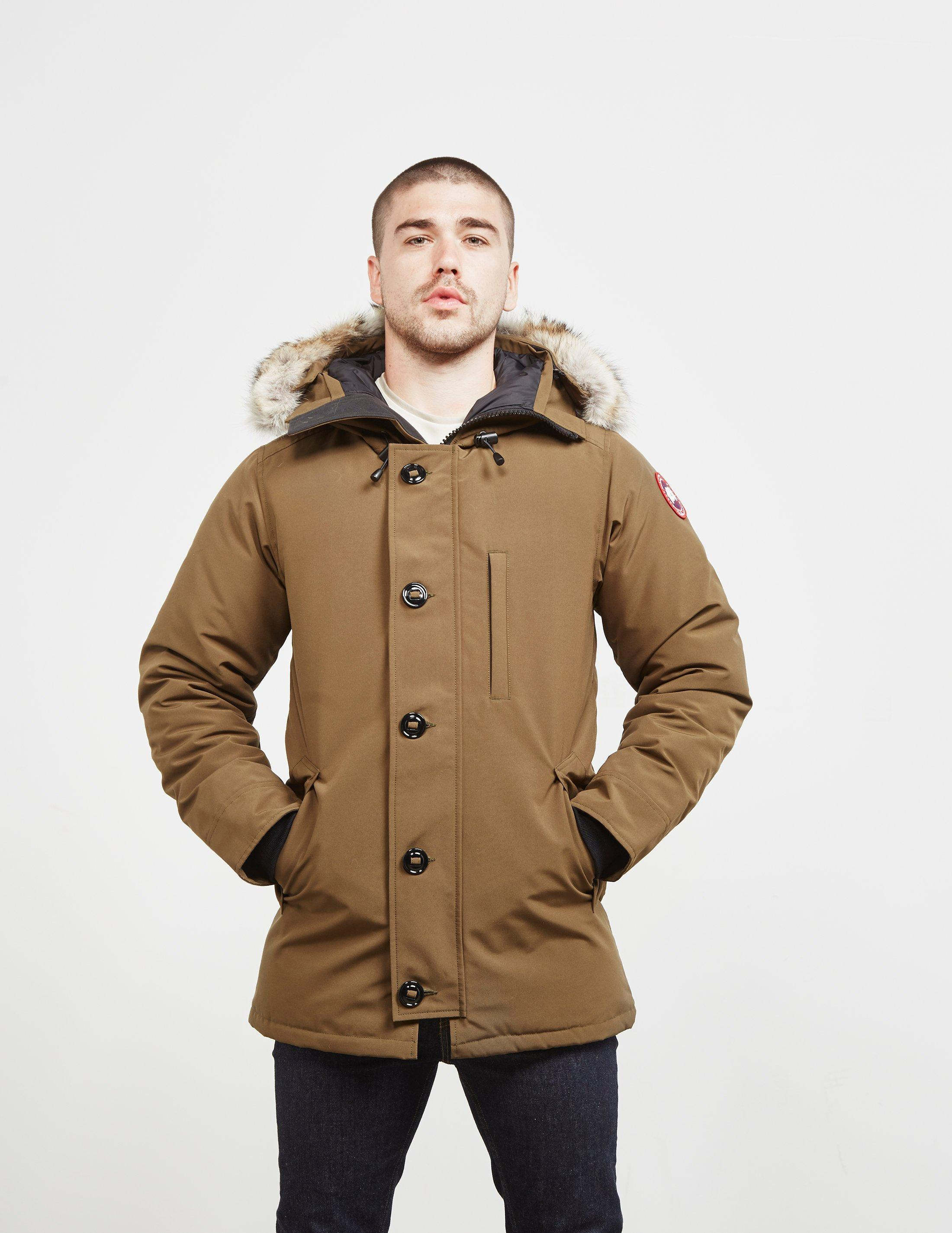 472b066ac5a6 Canada Goose - Chateau Padded Parka Jacket Green for Men - Lyst. View  fullscreen