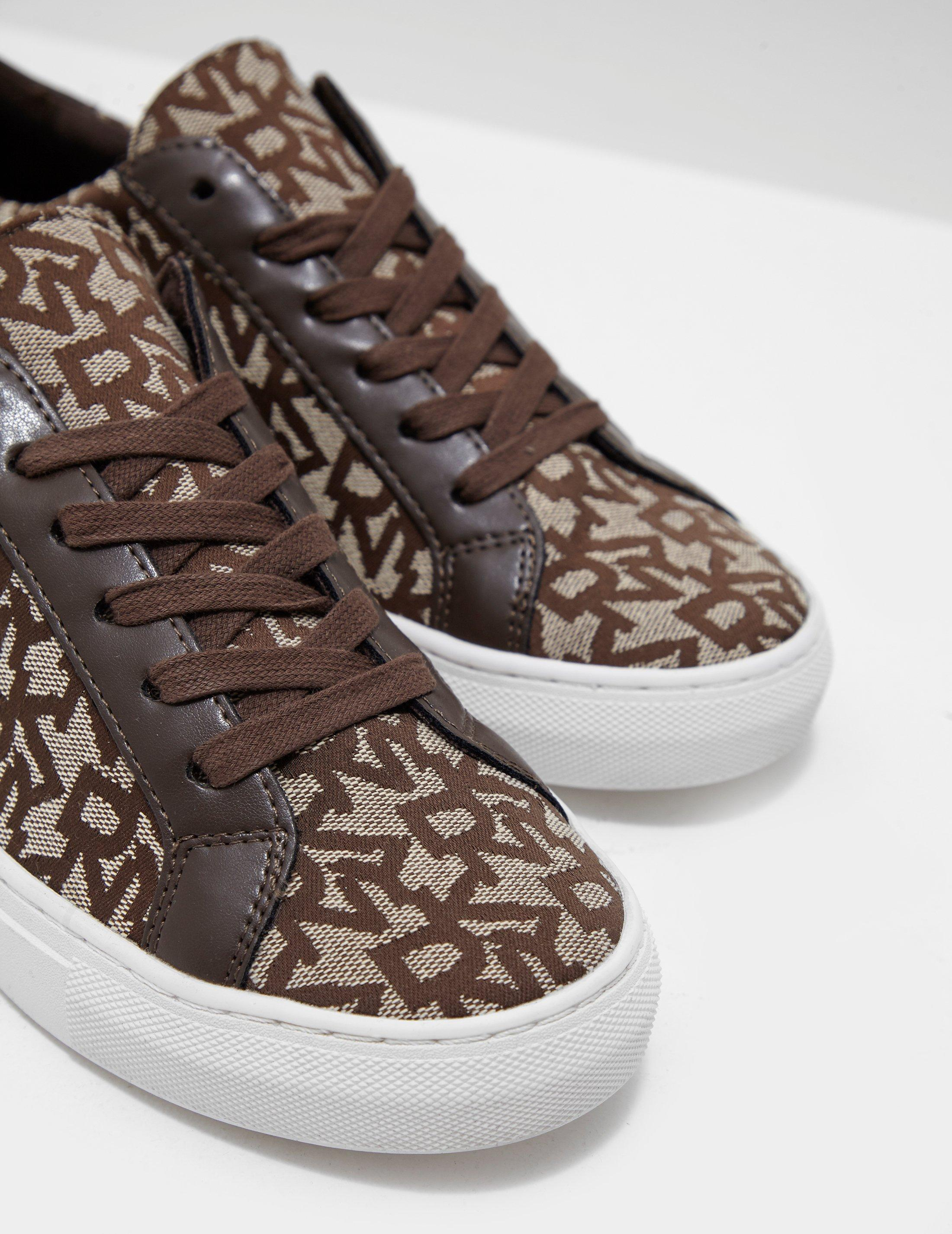 DKNY Canvas Court Lace Up Trainers