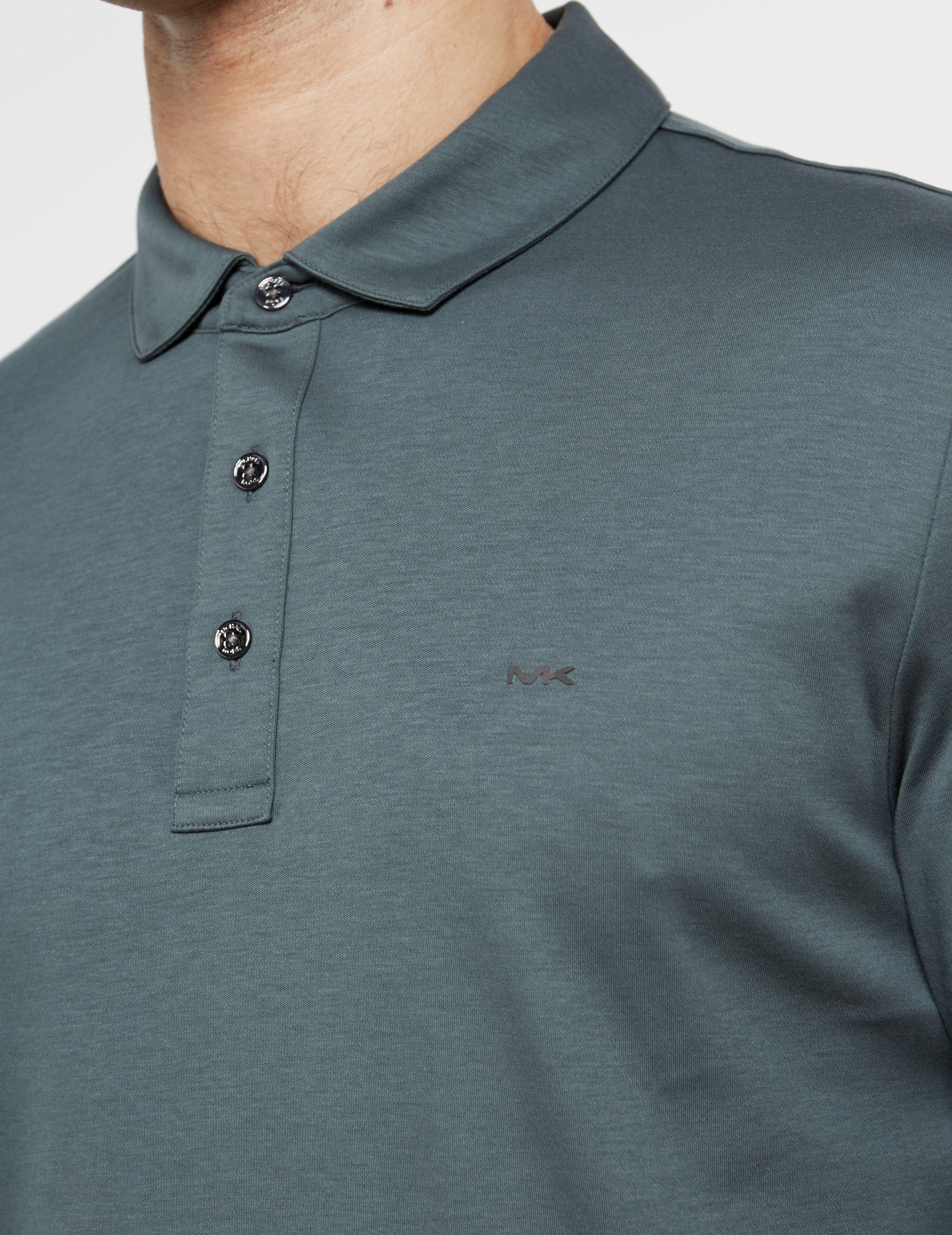 6c5de5ba Michael Kors - Mens Sleek Long Sleeve Polo Shirt Green for Men - Lyst. View  fullscreen