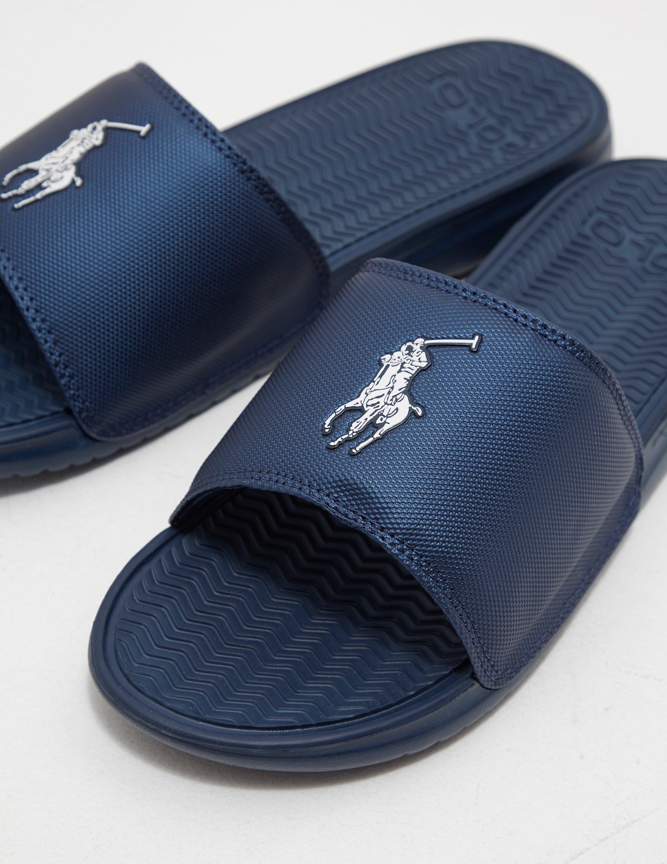 3f11378f400a Polo Ralph Lauren Rodwell Sliders in Blue for Men - Save 32% - Lyst