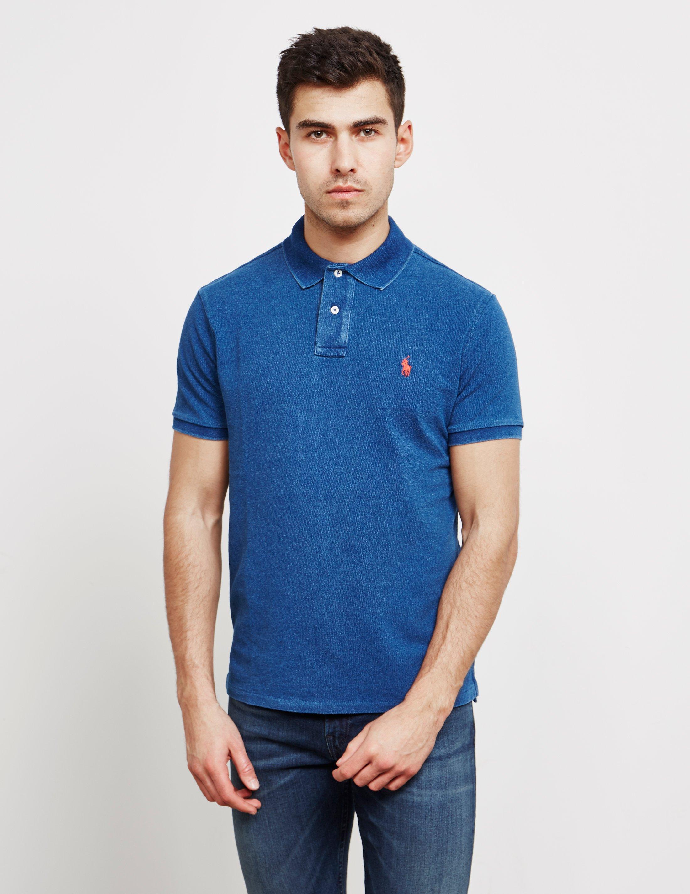 26e979598e9 Lyst - Polo Ralph Lauren Mens Mesh Short Sleeve Polo Shirt Blue in ...