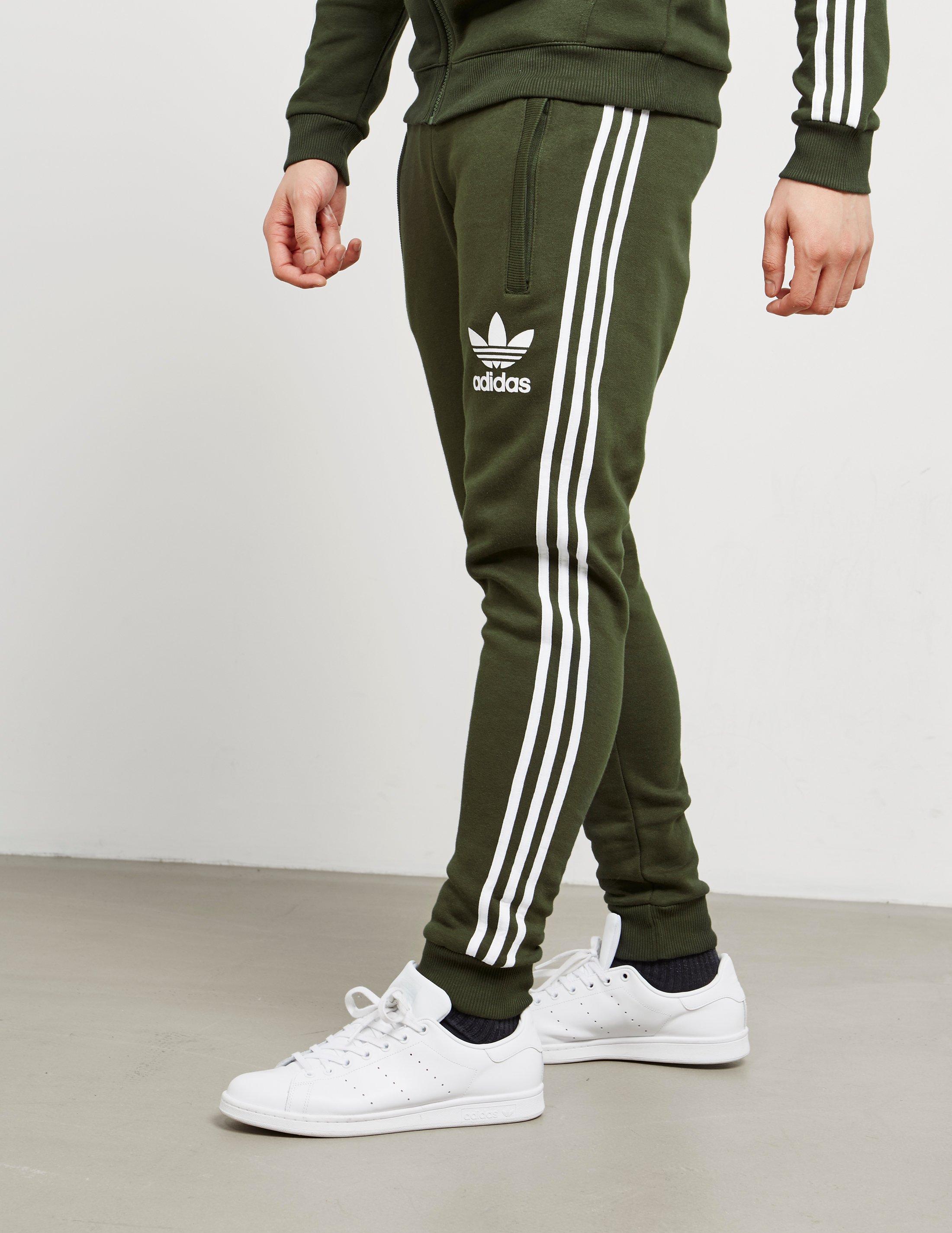 Adidas Originals Green Mens California Joggers Cargowhite for men