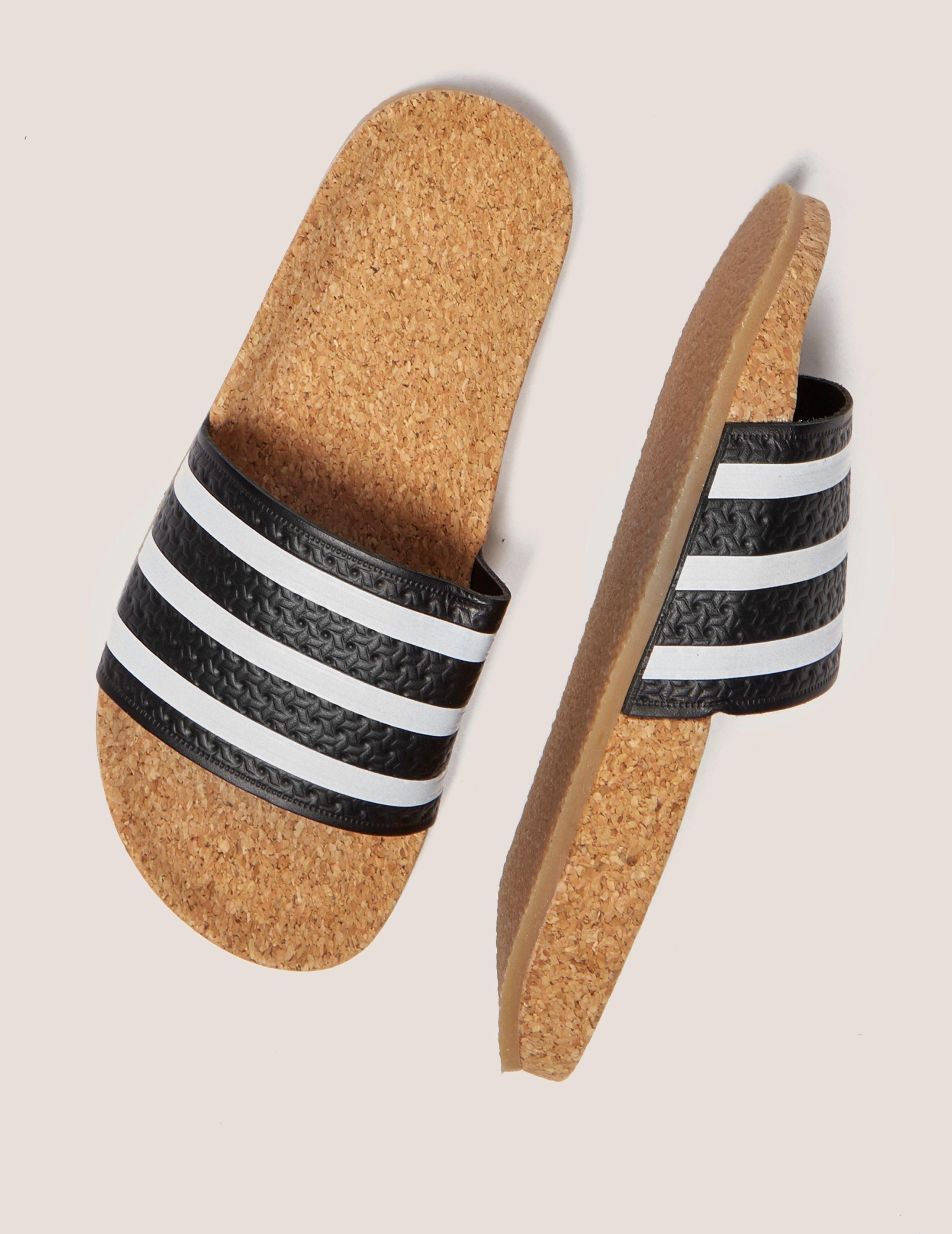 4a6bd2539 Lyst - adidas Originals Adilette Cork Slides