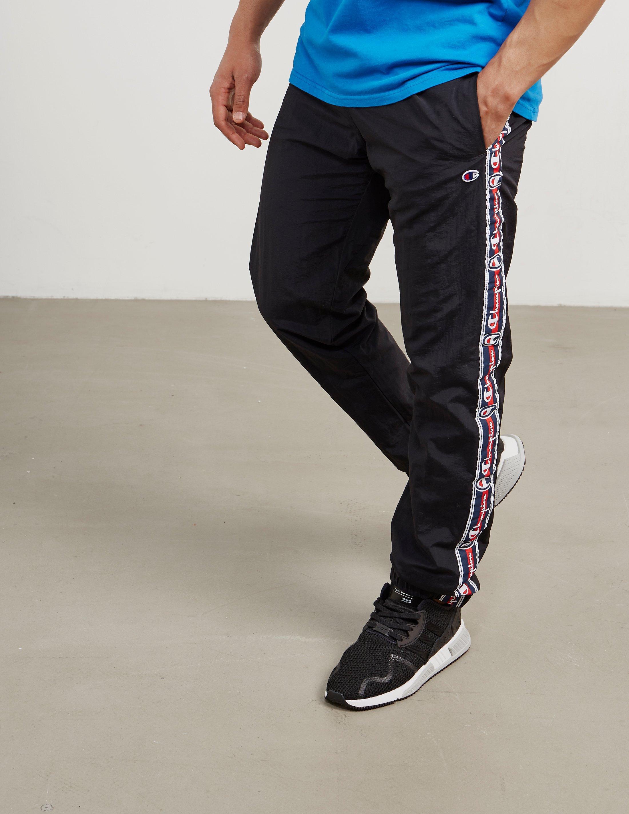 ad2970622be5 Lyst - Champion Mens Retro Tape Track Pants Black in Black for Men