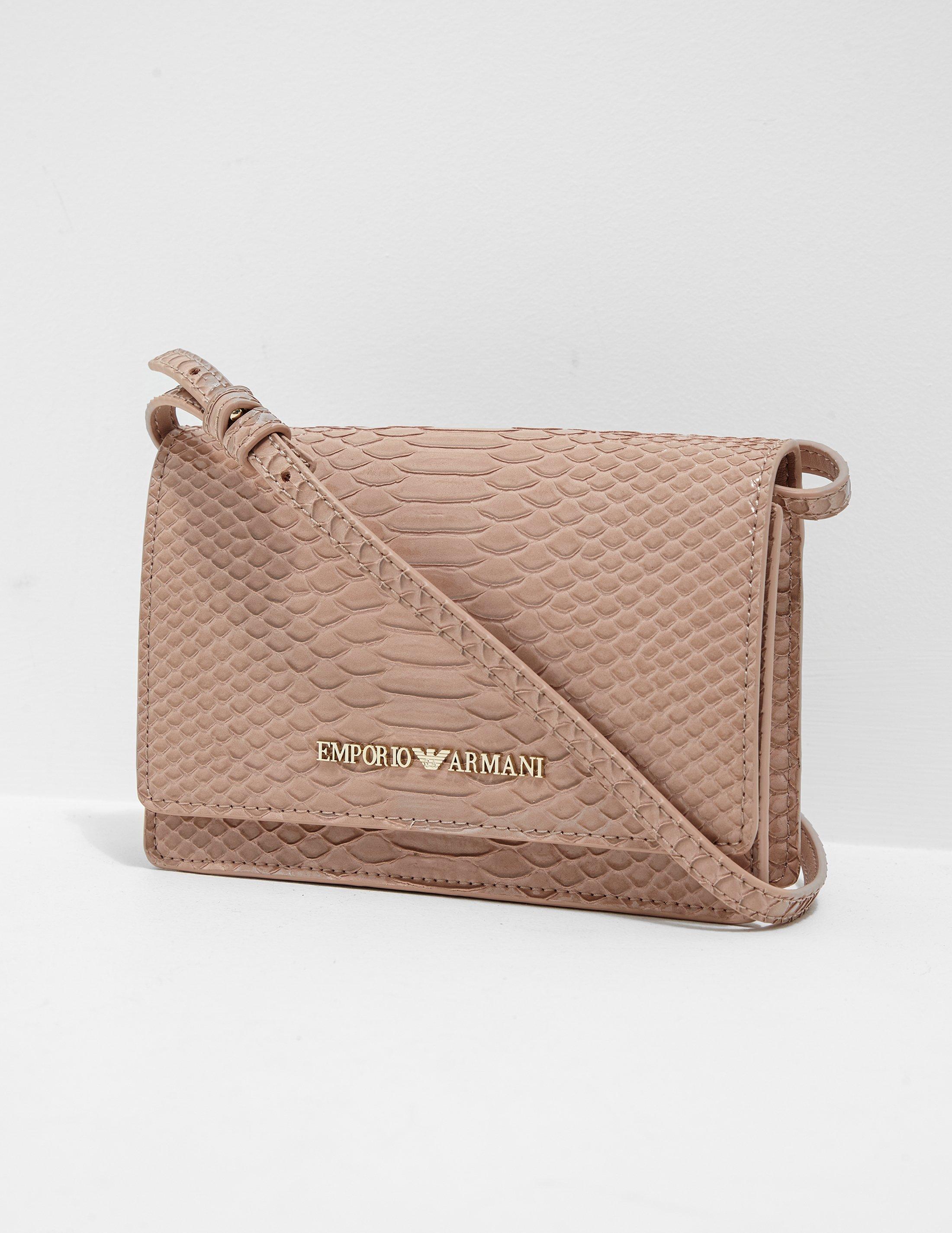 7acc94f8 Emporio Armani Womens Snakeskin Crossbody Bag Pink, Pink - Lyst