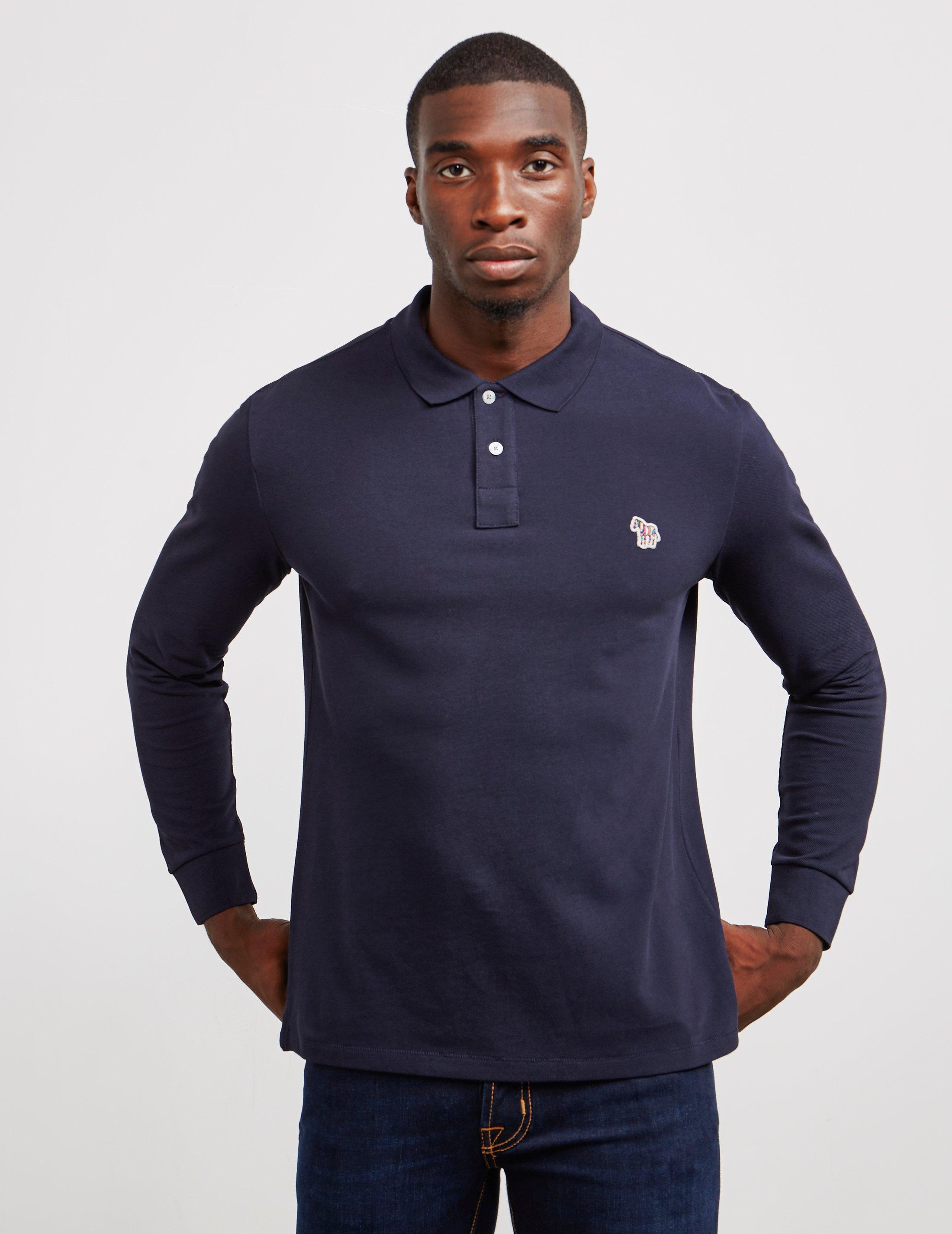 2021907f1 Lyst - PS by Paul Smith Basic Zebra Long Sleeve Polo Shirt Navy Blue ...
