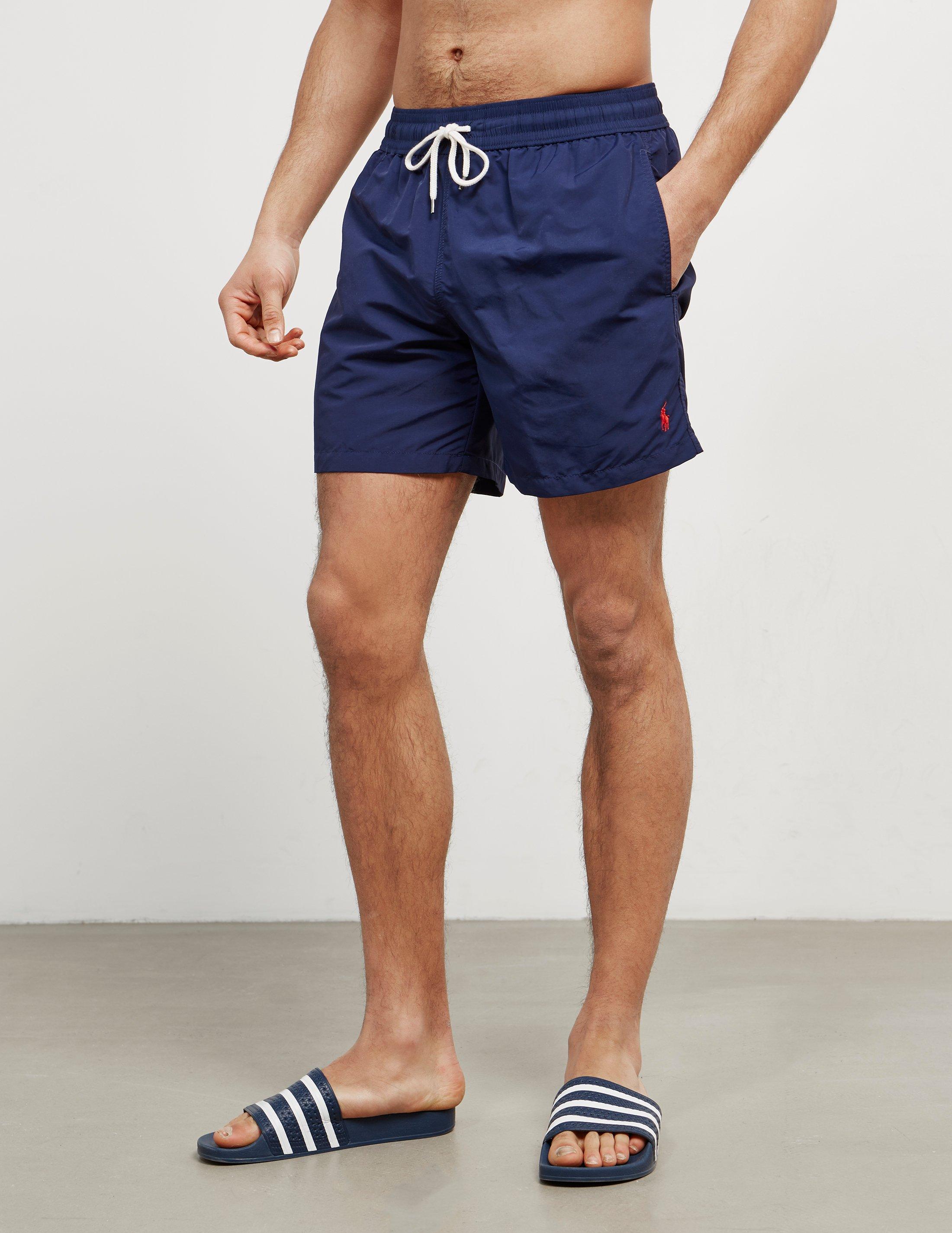 2a3139a87 ... cheapest polo ralph lauren mens basic swim shorts navy blue in blue for  men a4c3f eb4c6
