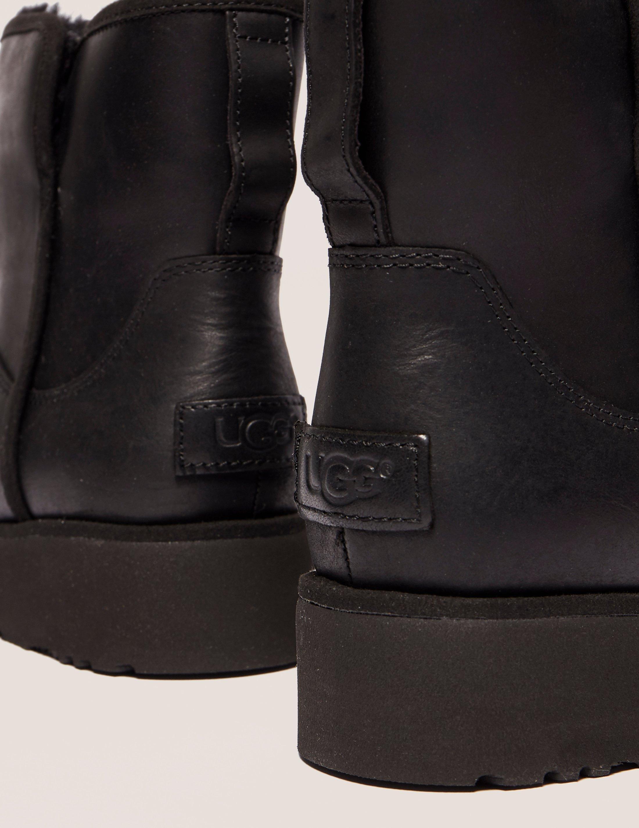 716d0438e77 Ugg Womens Kristin Leather Boot Black