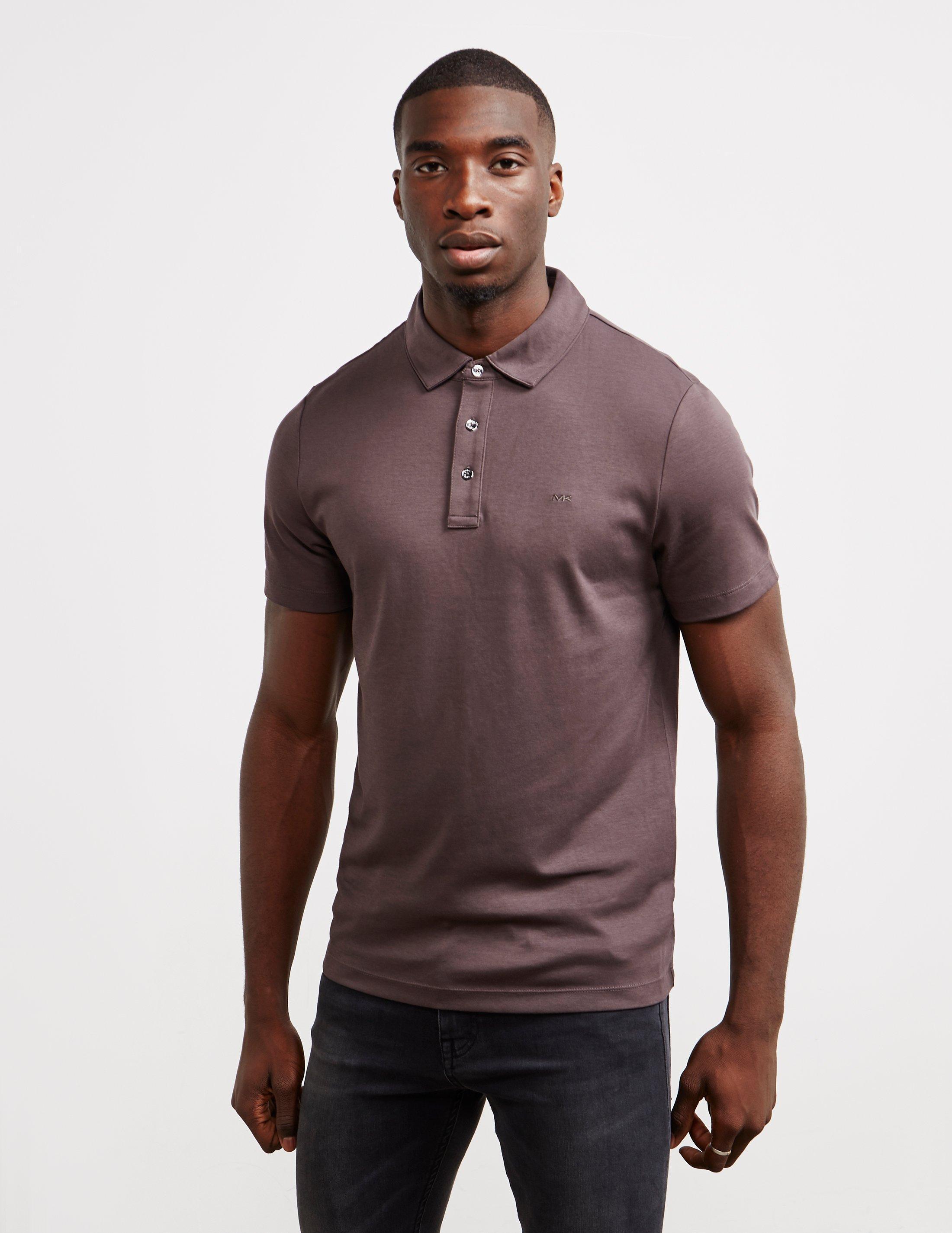 d645d7a11 Lyst - Michael Kors Sleek Short Sleeve Polo Shirt Grey in Gray for Men