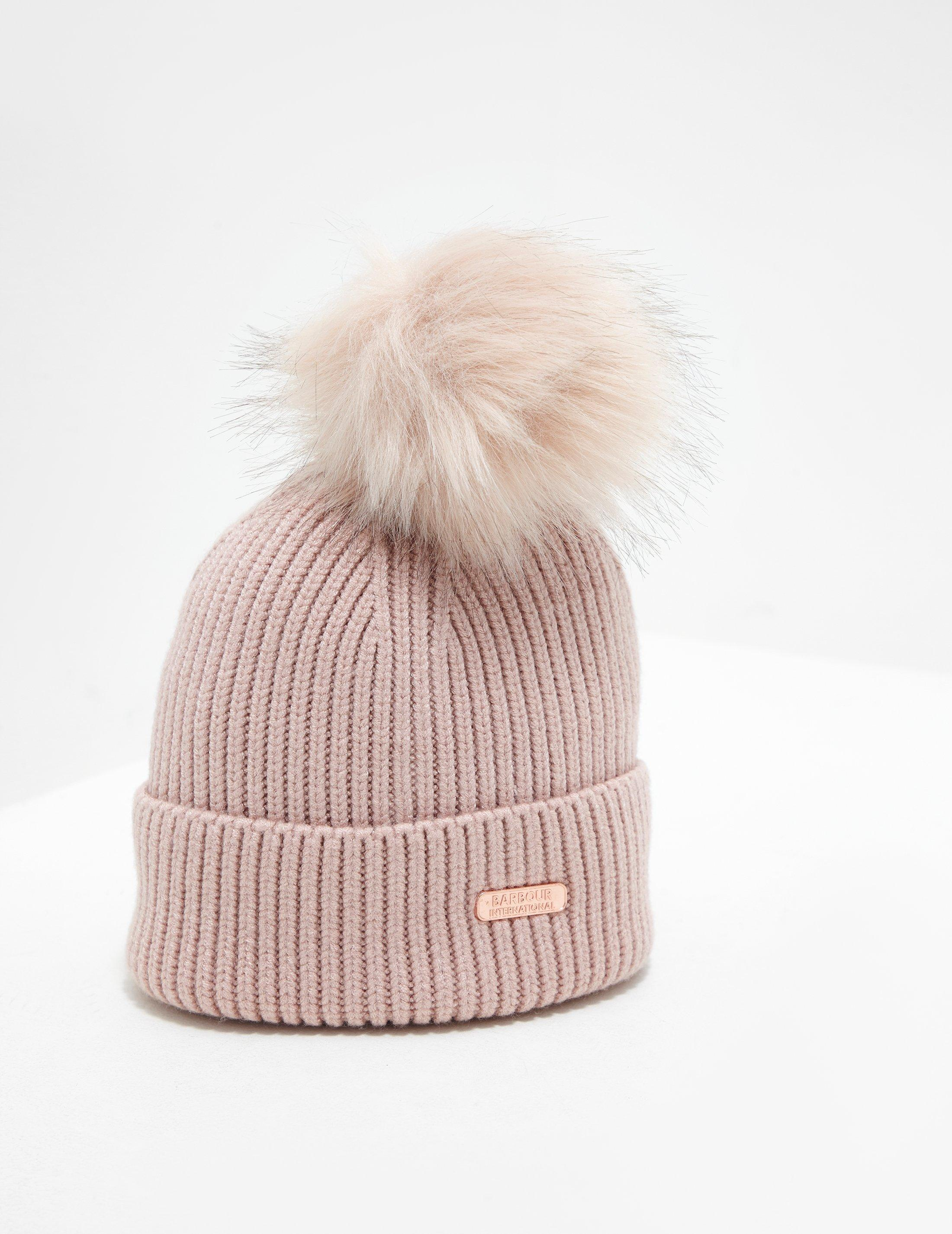 b1a553898 Barbour Mallory Pompom Beanie Pink