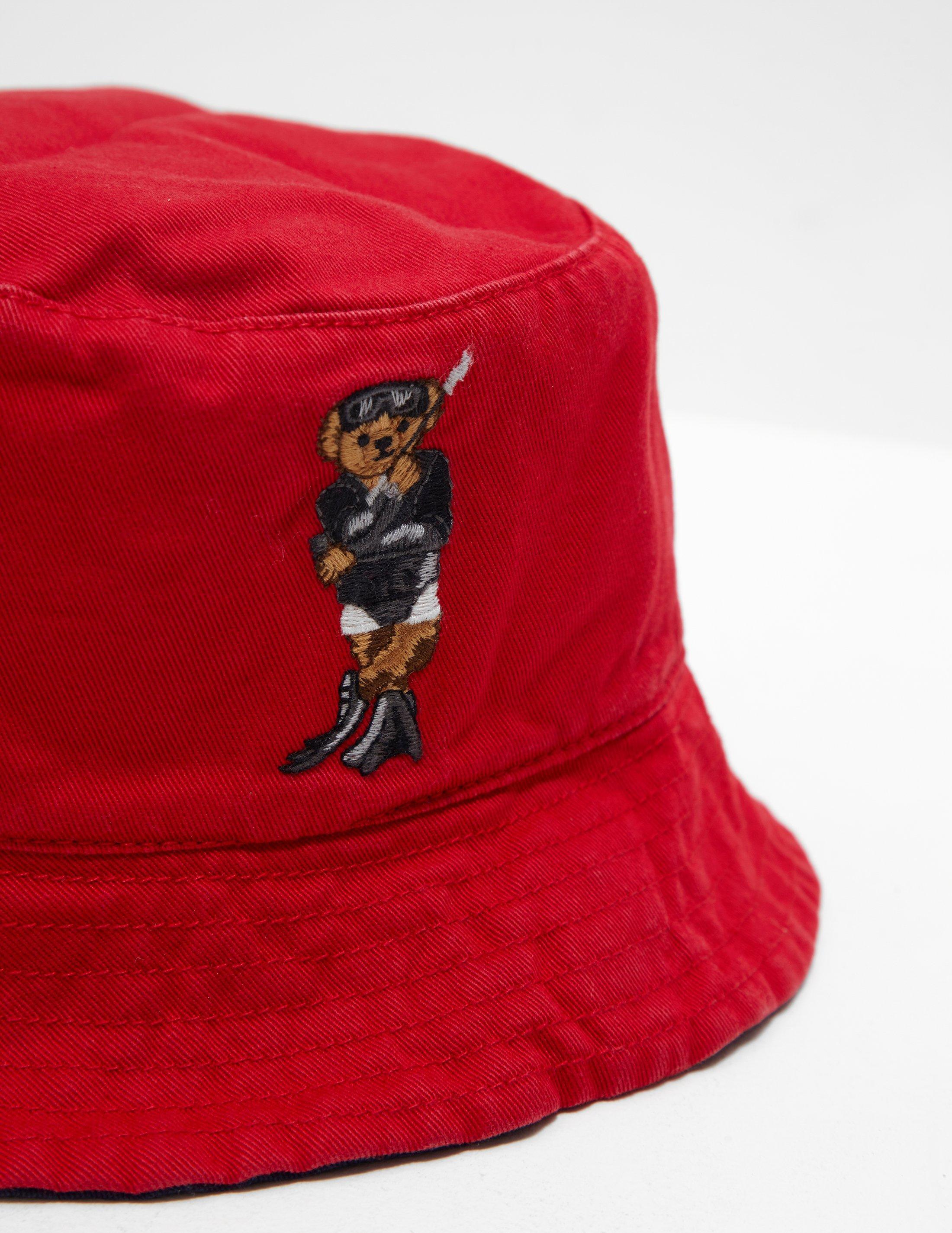 87fef3ed Polo Ralph Lauren Mens Bear Bucket Hat - Online Exclusive Navy Blue for men