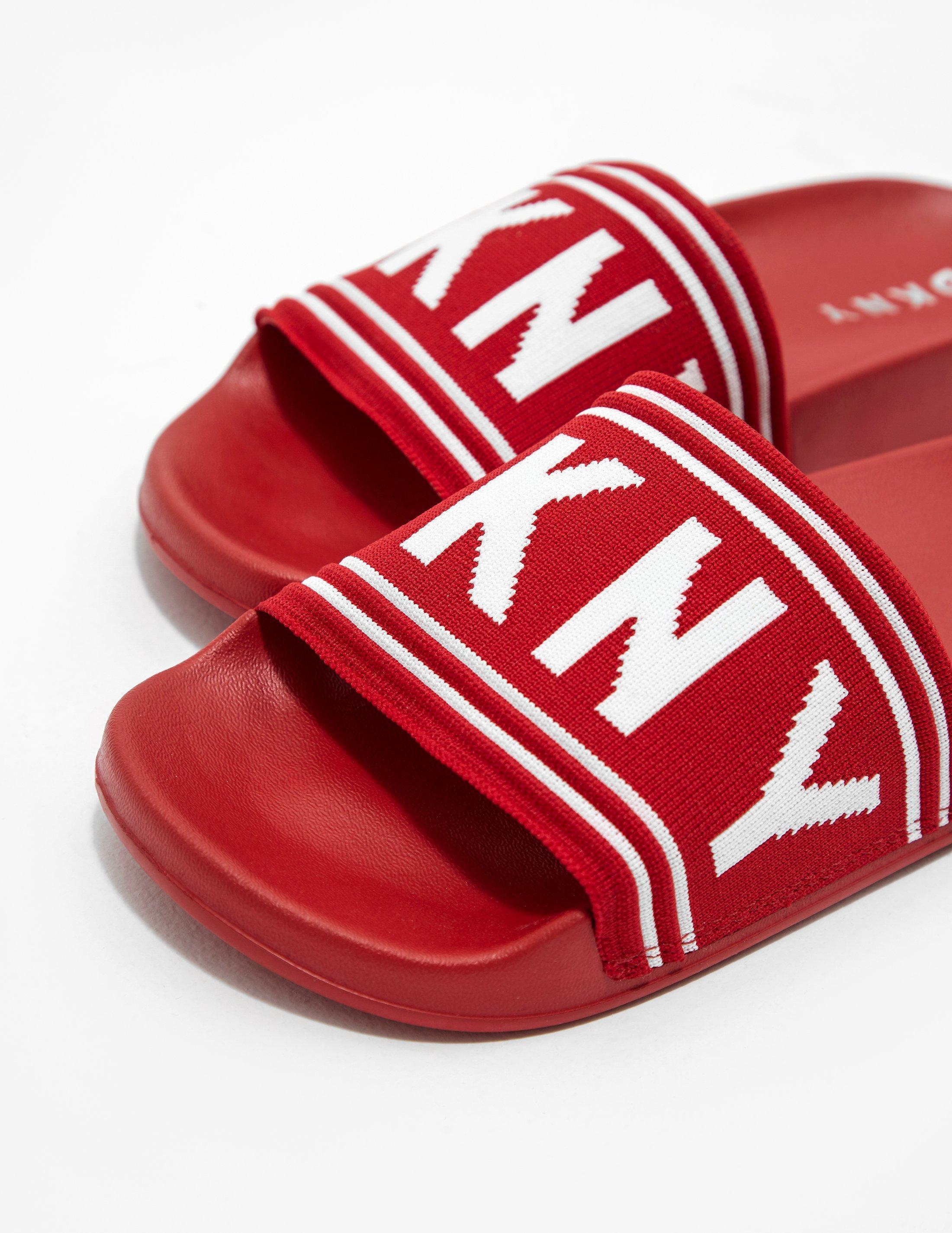 DKNY Rubber Zora Slides Red - Lyst