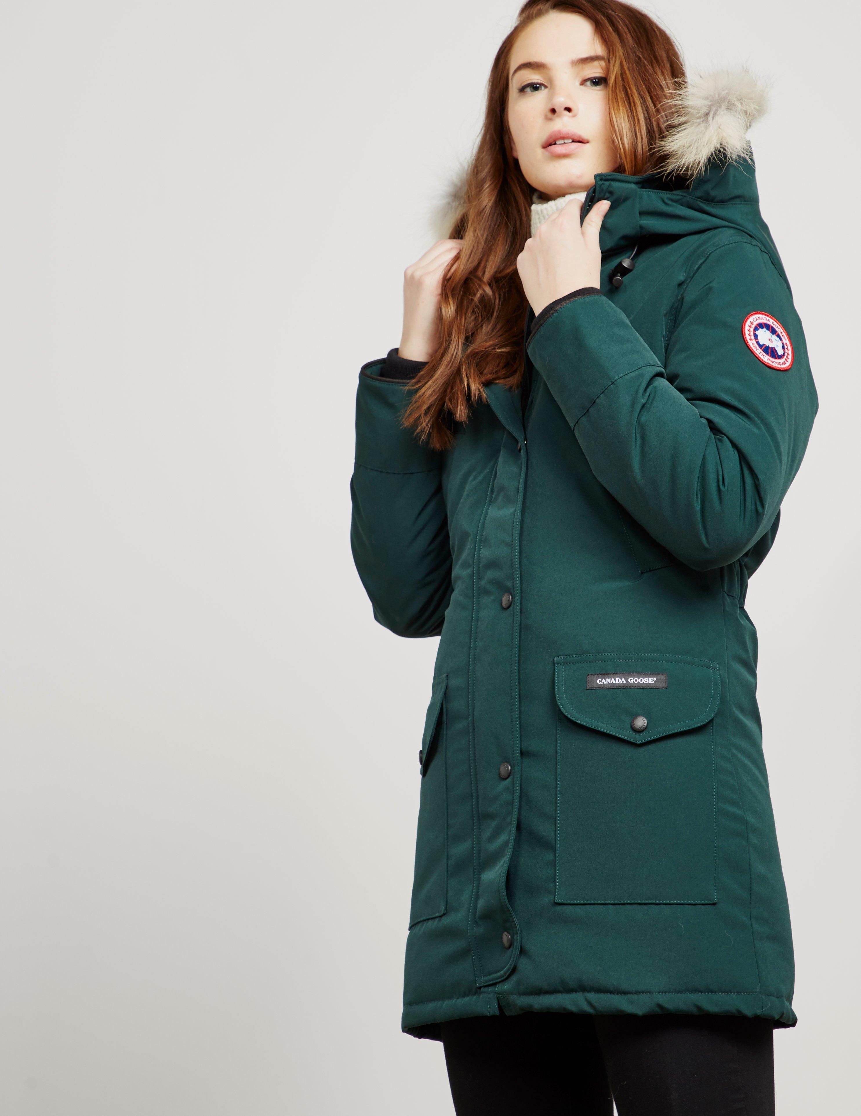 b2e38e5c4a0 ... order canada goose womens trillium padded parka jacket green lyst. view  fullscreen 4d5a6 4a2ce