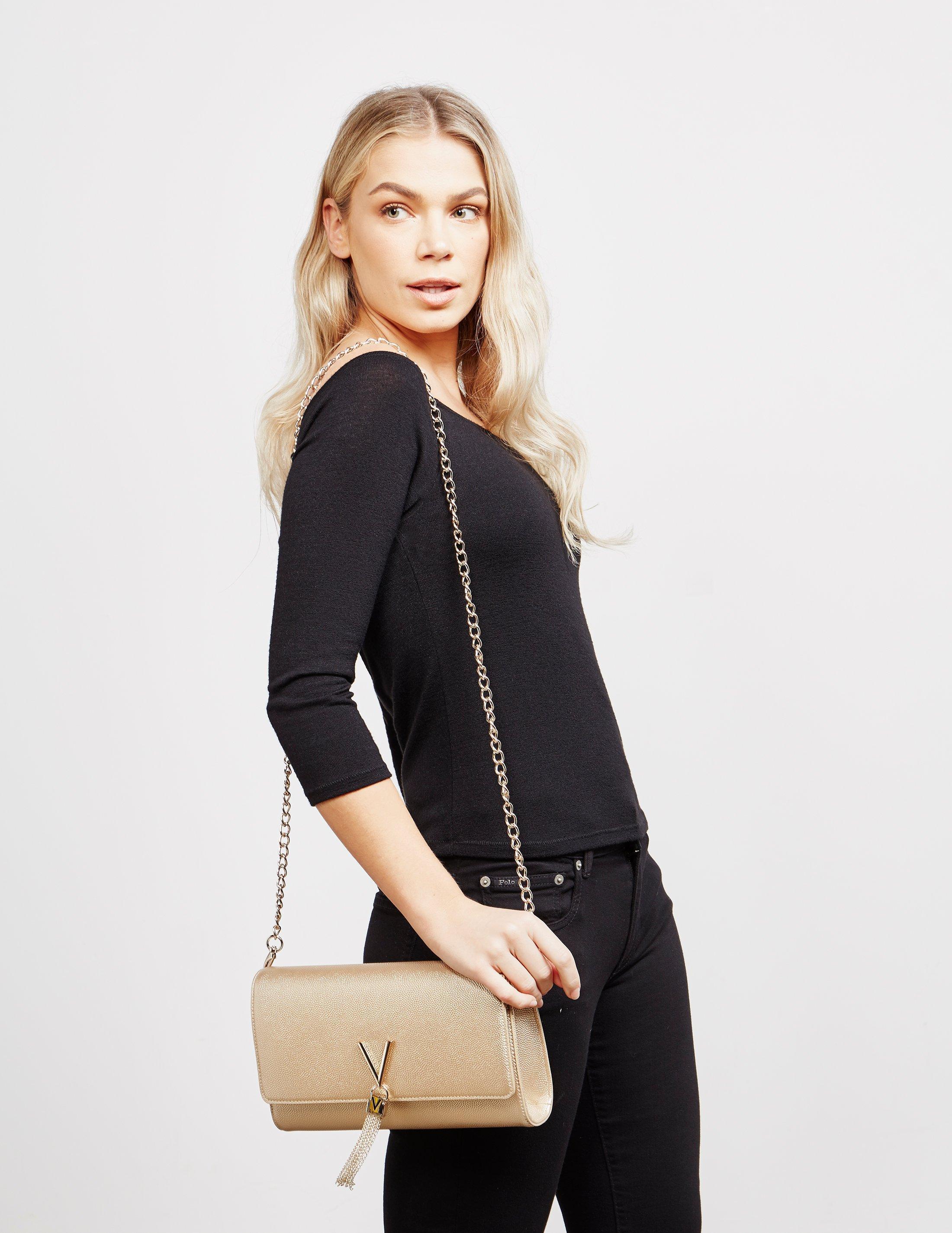 Valentino By Mario Valentino Womens Divina Clutch Bags Handbag Gold