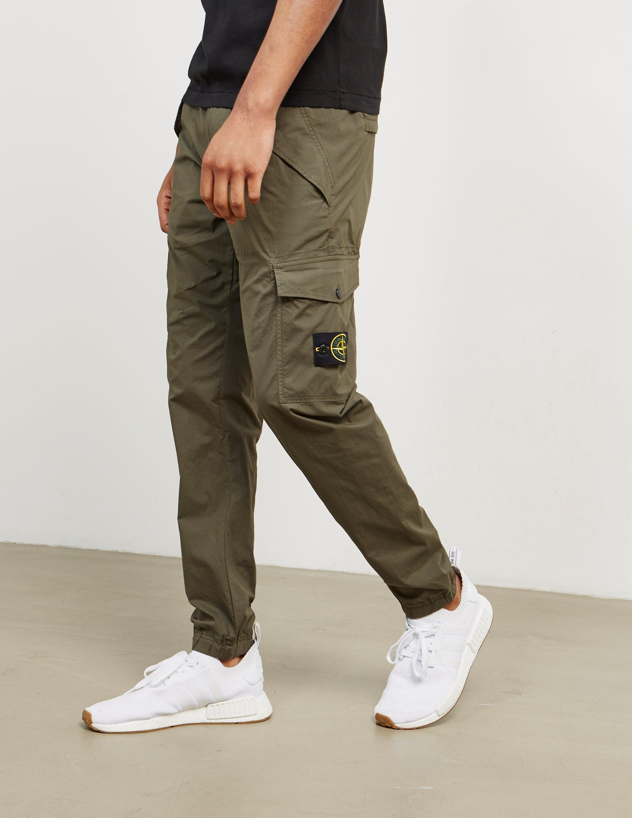 Stone Island Cotton Mens Cargo Pants Green for Men - Lyst