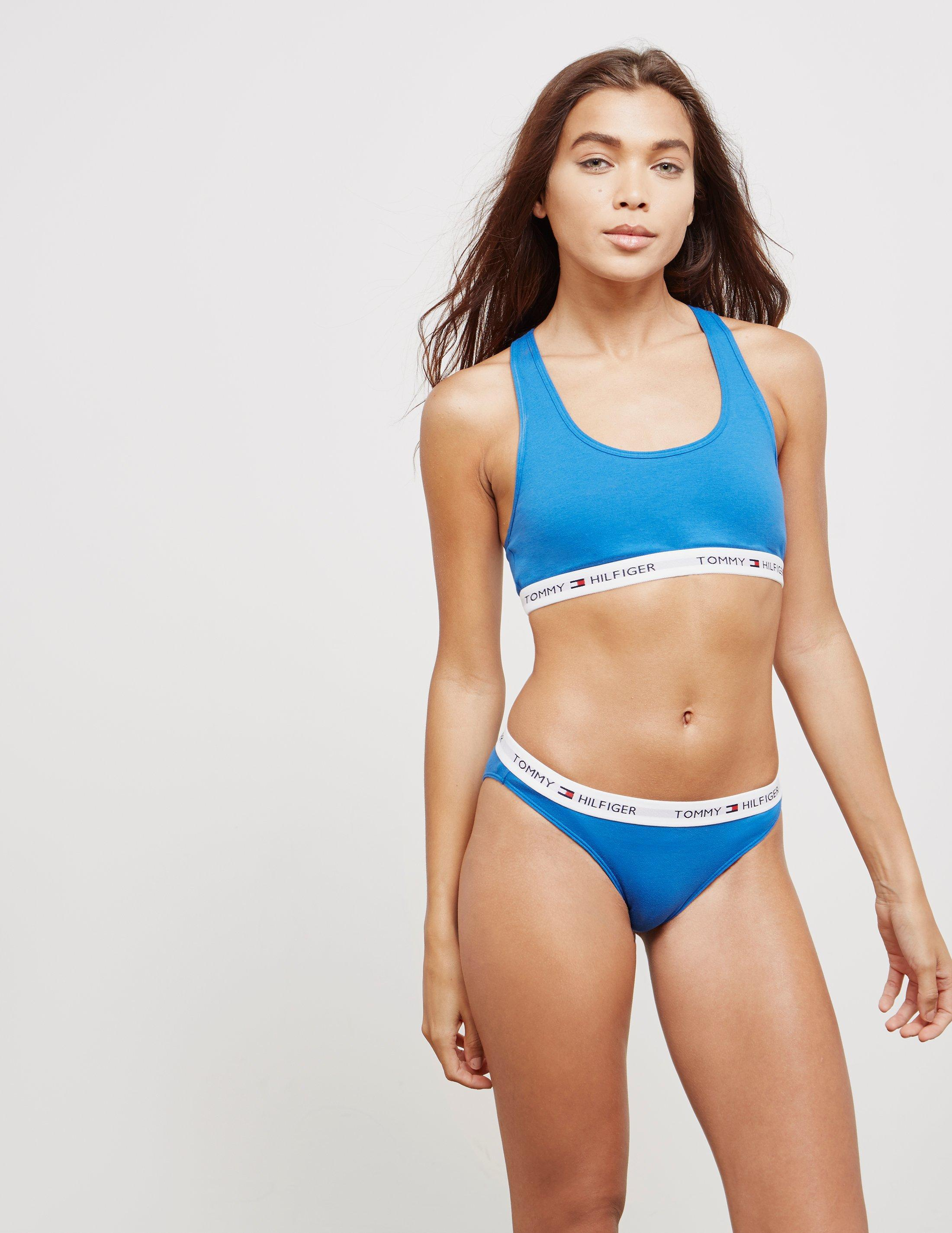 f3727035b2 Tommy Hilfiger Womens Cropped Bralette - Online Exclusive Blue in ...
