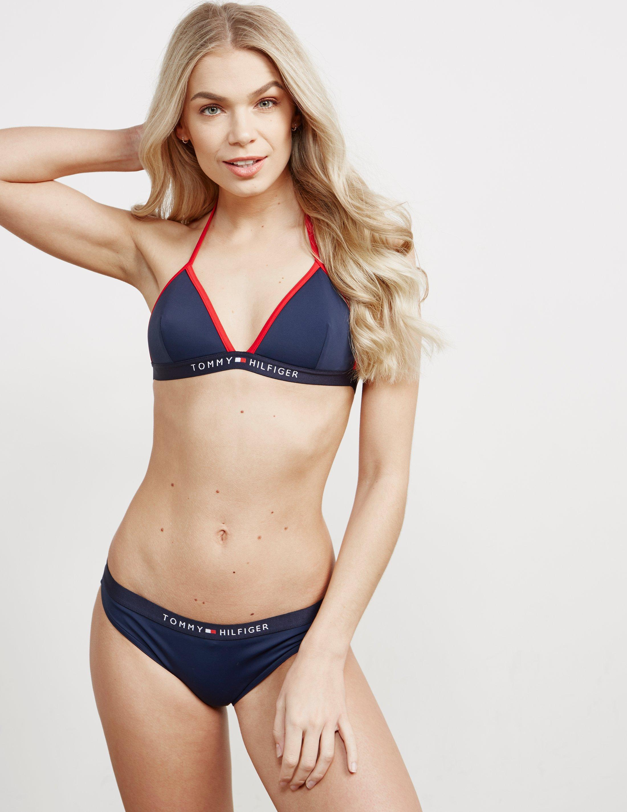 8108f59396 Tommy Hilfiger Womens Triangle Fixed Bikini Top-online Exclusive ...