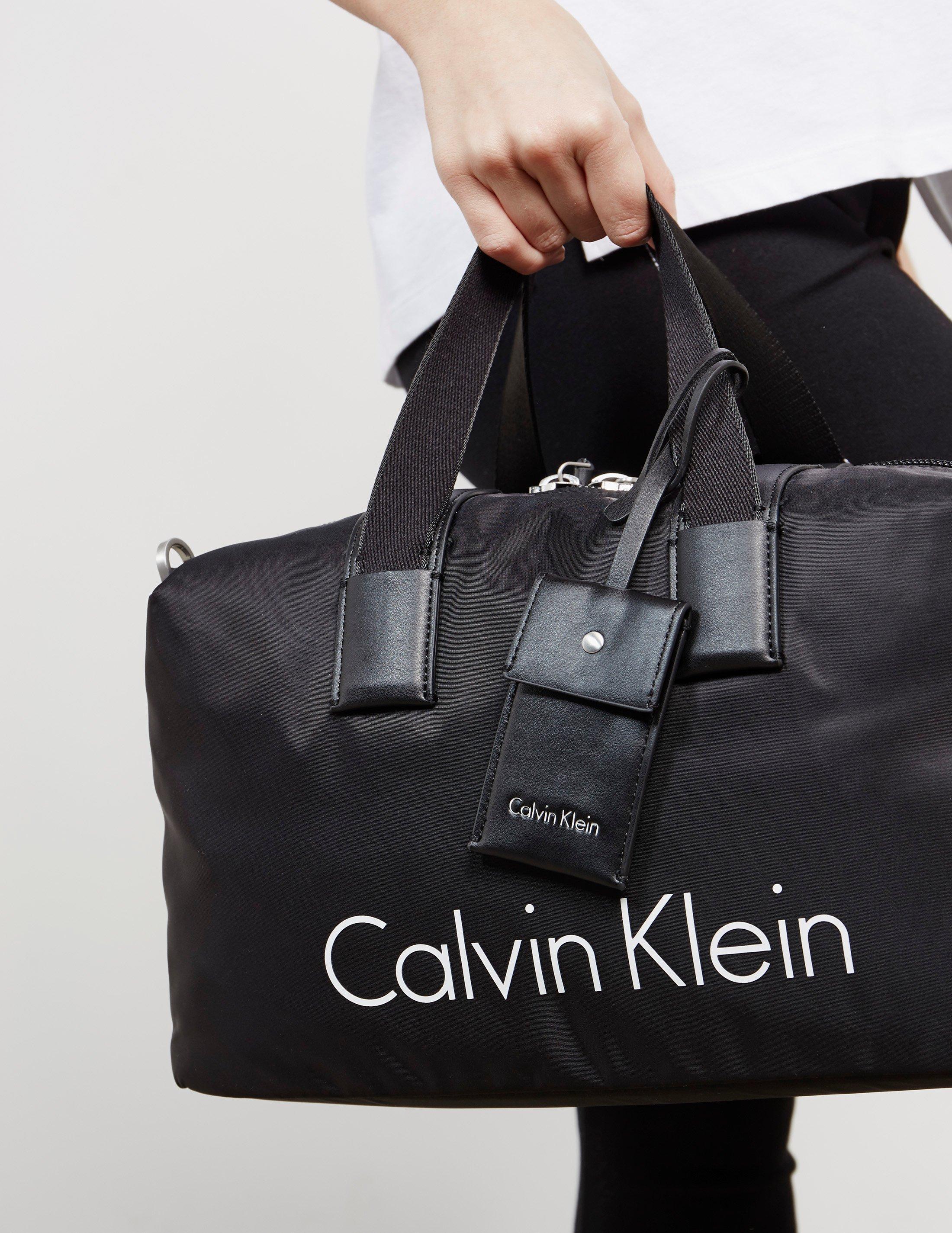 Lyst - Calvin Klein Womens Nylon Duffle Bag Black in Black 1894097910