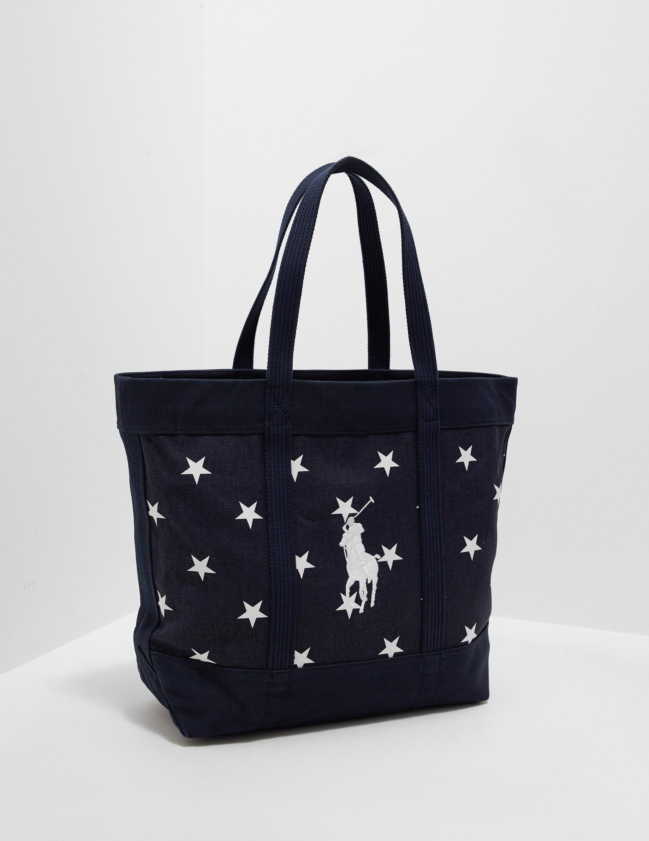 Polo Ralph Lauren Mens Stars Tote Bag - Online Exclusive Navy Blue ... 38bedc9eb8c95