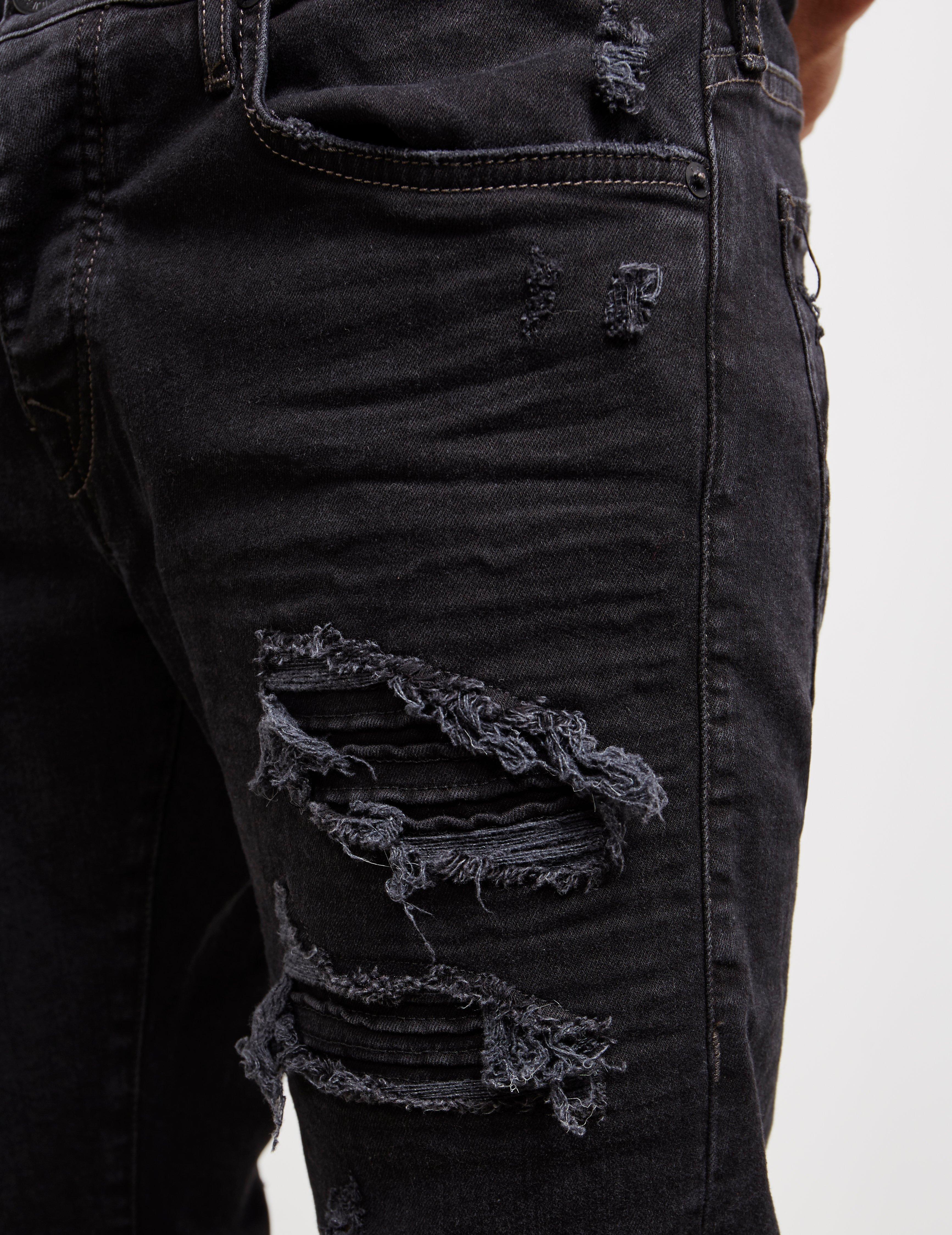 42fecd5e True Religion - Rocco Biker Jeans Black for Men - Lyst. View fullscreen