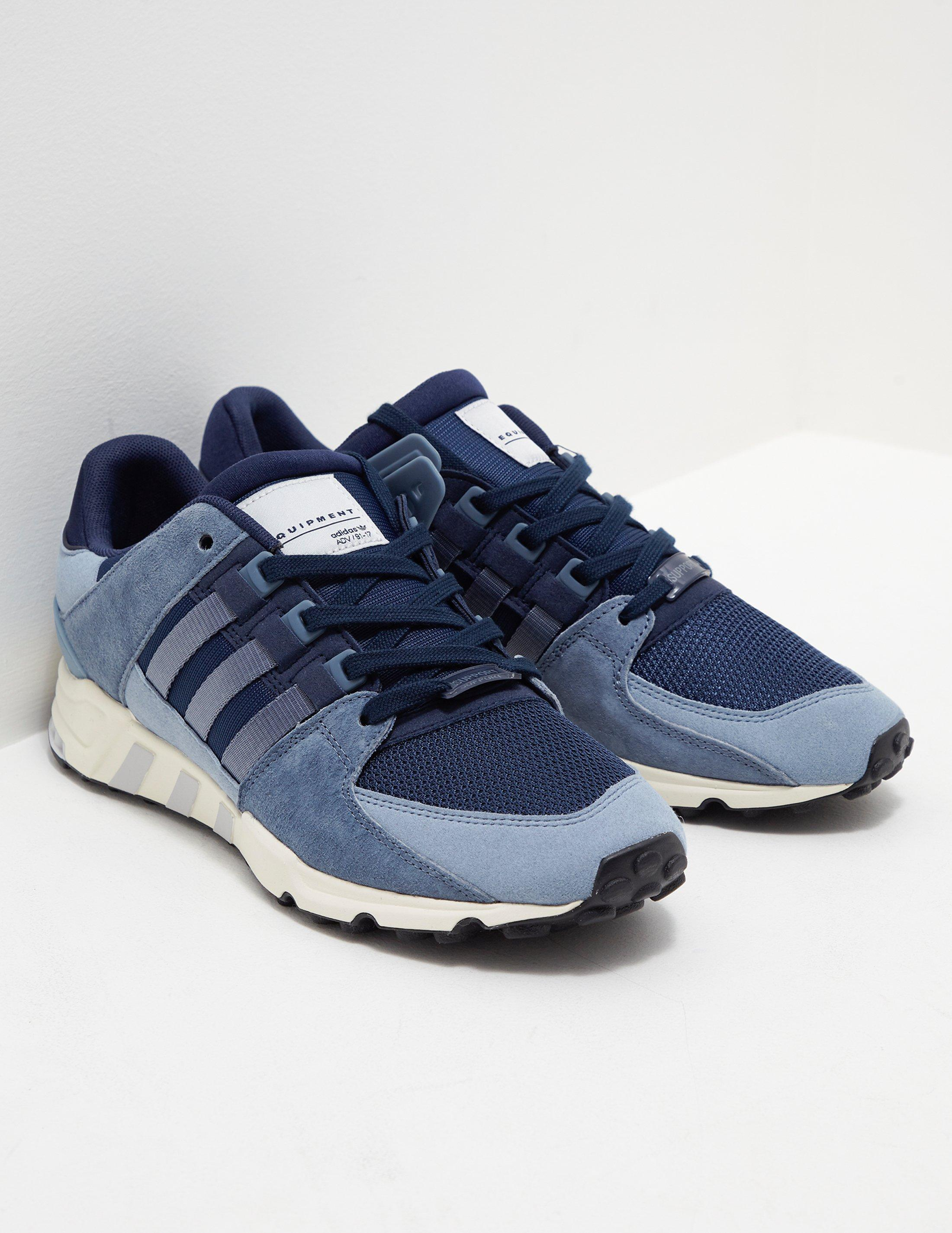 brand new bbd3d 65ae9 Mens In Navy Eqt Support Adidas Originals Lyst Running Blue