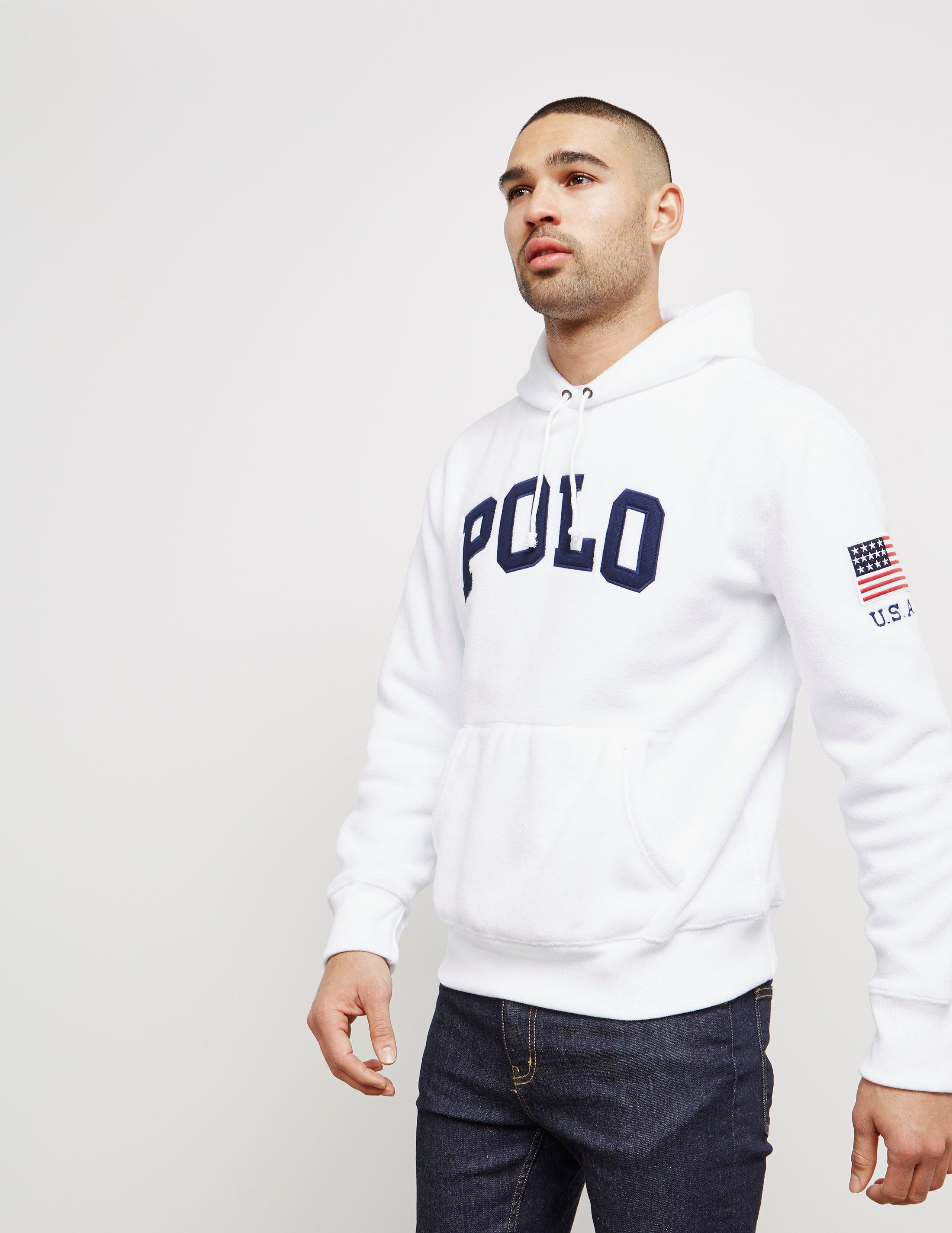 8828e0e5555b Lyst - Polo Ralph Lauren Mens Vintage Fleece Overhead Hoodie White ...